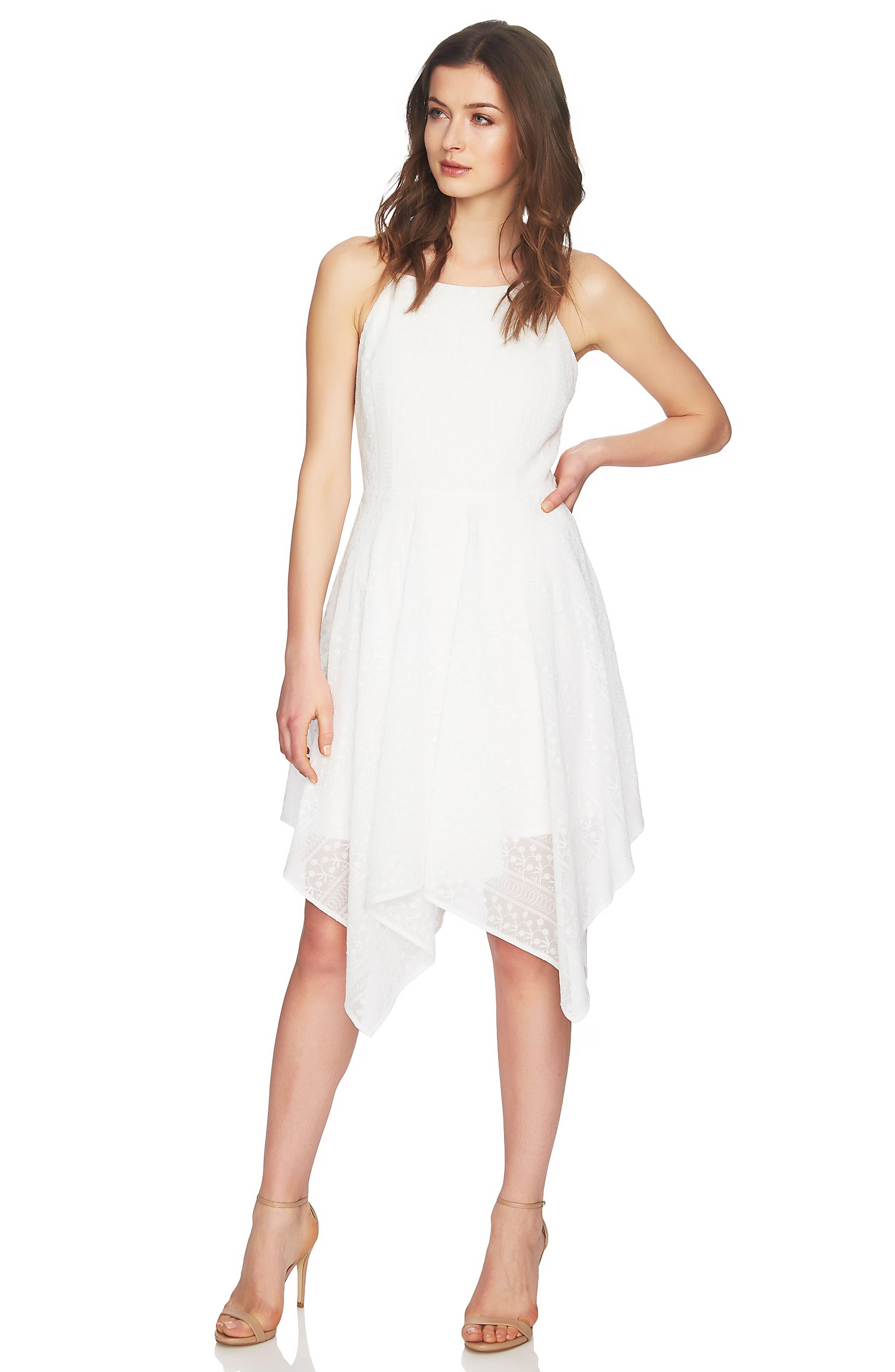 Reese Handkerchief Hem Dress,                             Alternate thumbnail 2, color,                             New Ivory