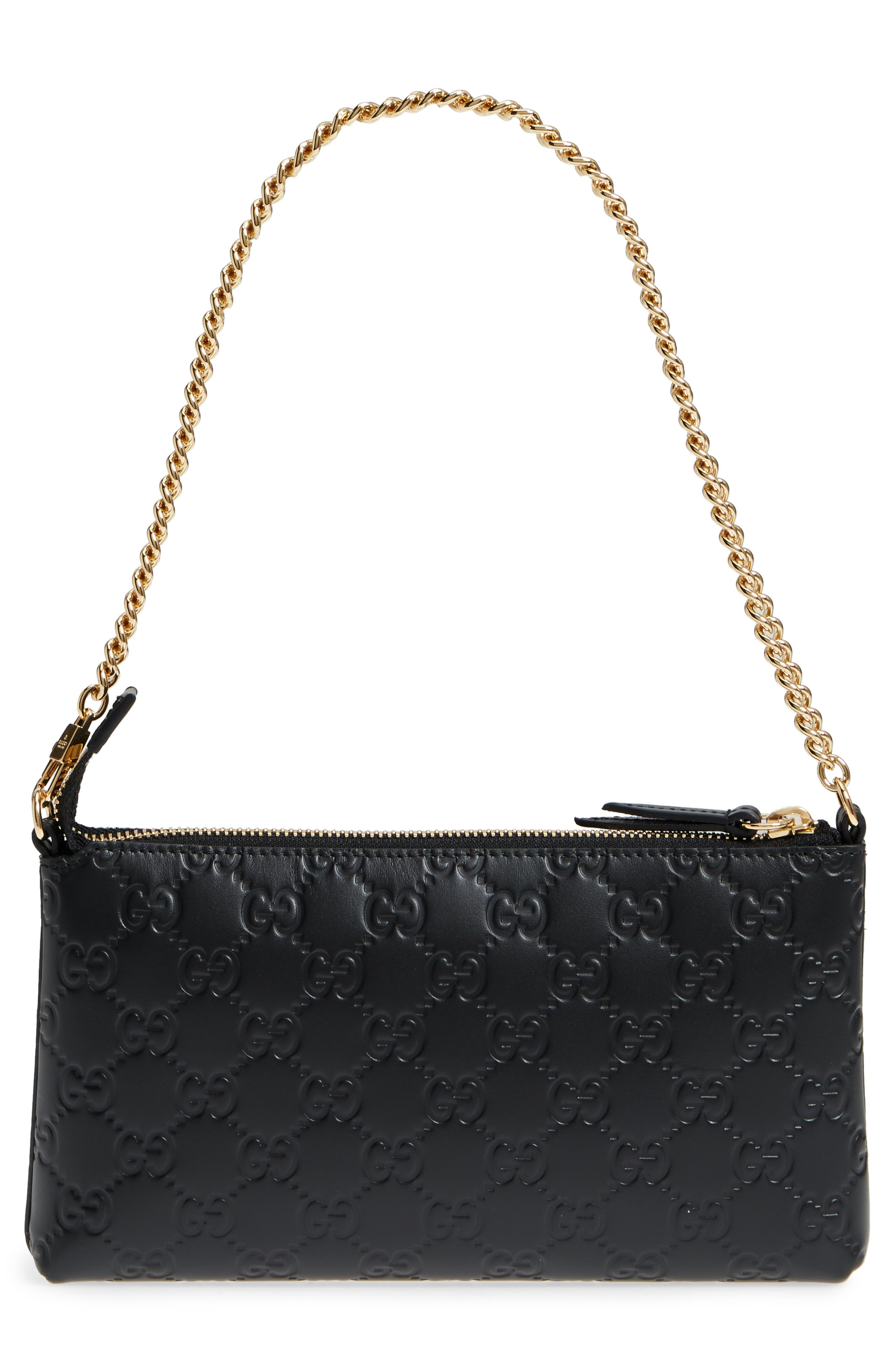 GG Leather Wallet on a Chain,                             Alternate thumbnail 3, color,                             Nero/ Nero