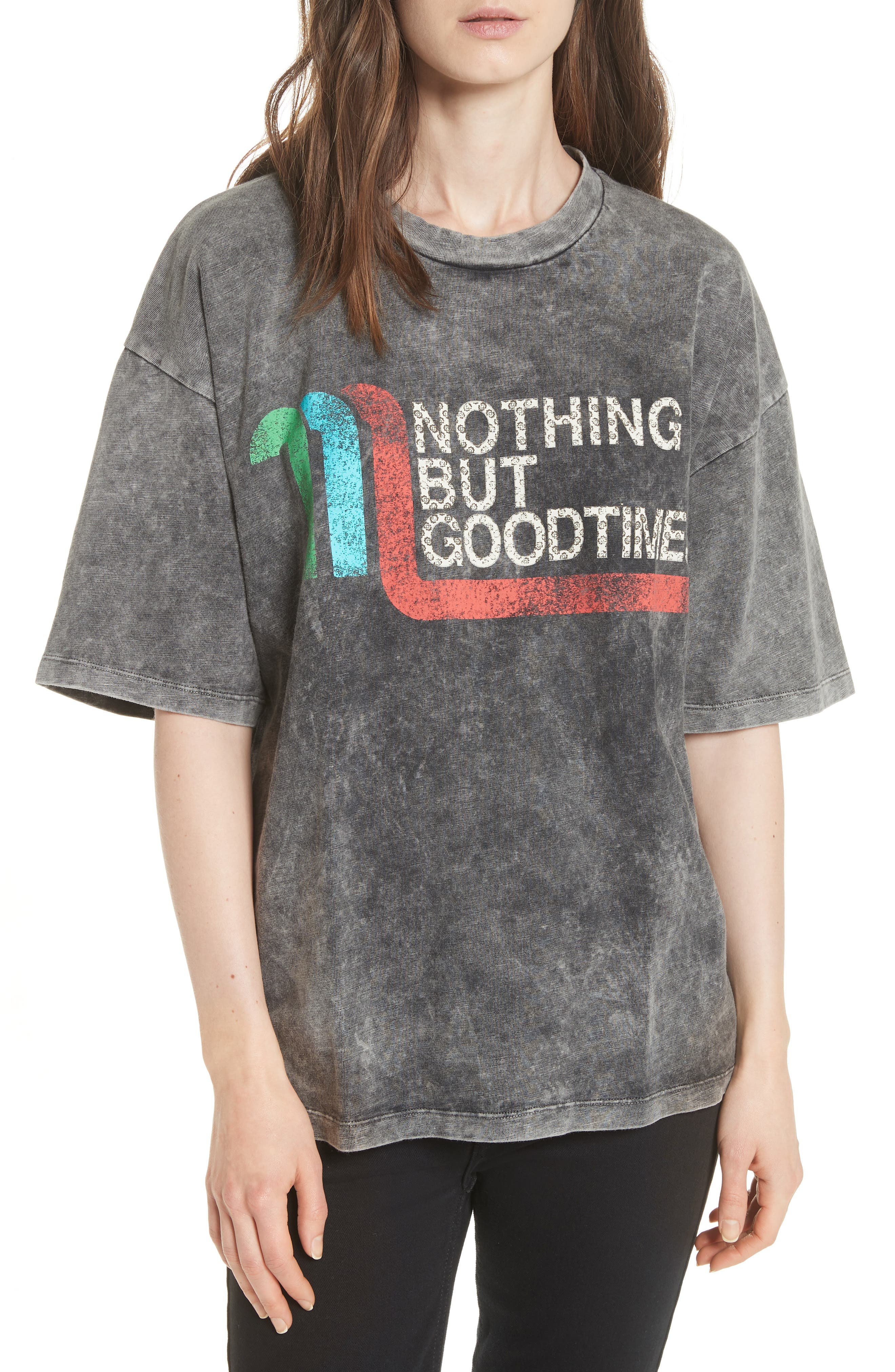 Nothing But Good Times Tee,                         Main,                         color, Grey