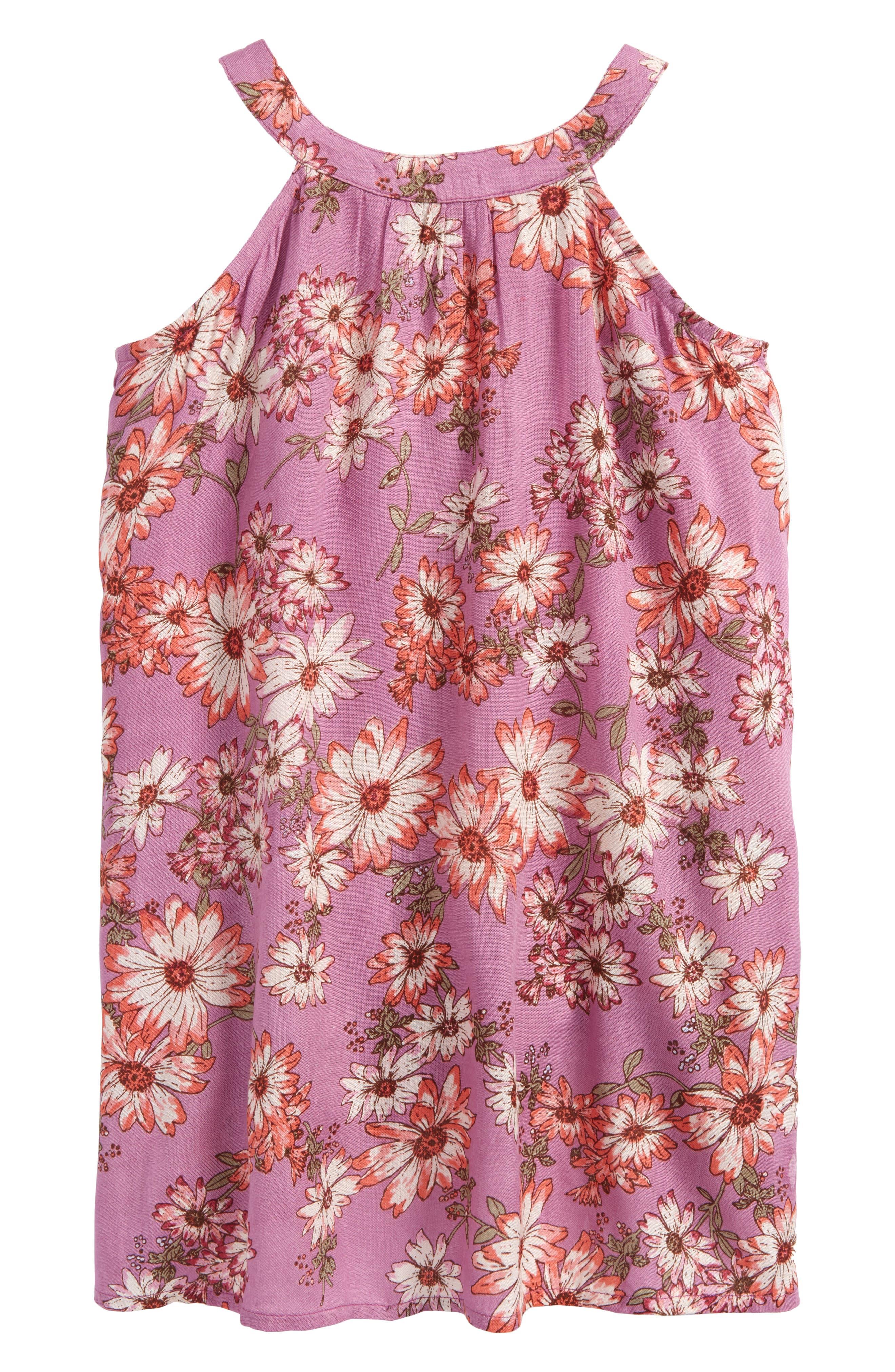 Sallie Floral Dress,                             Alternate thumbnail 2, color,                             Dusty Lavender