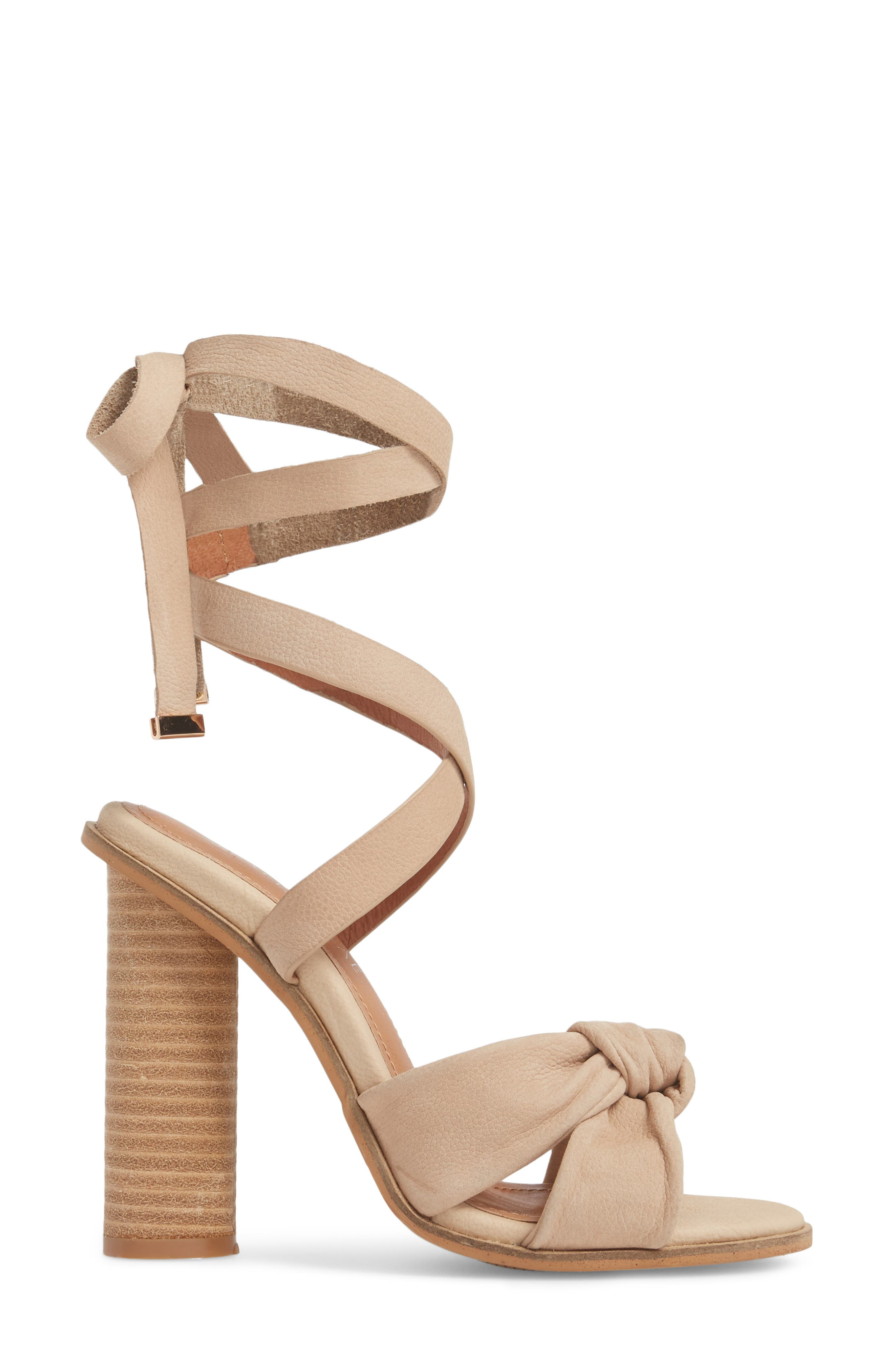 Africa Ankle Wrap Sandal,                             Alternate thumbnail 3, color,                             Natural Leather
