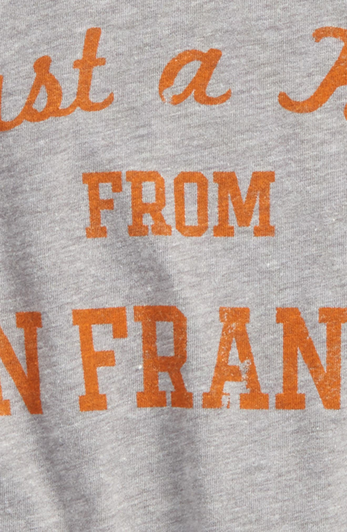 Just a Kid from San Francisco Graphic T-Shirt,                             Alternate thumbnail 2, color,                             Grey/ Orange