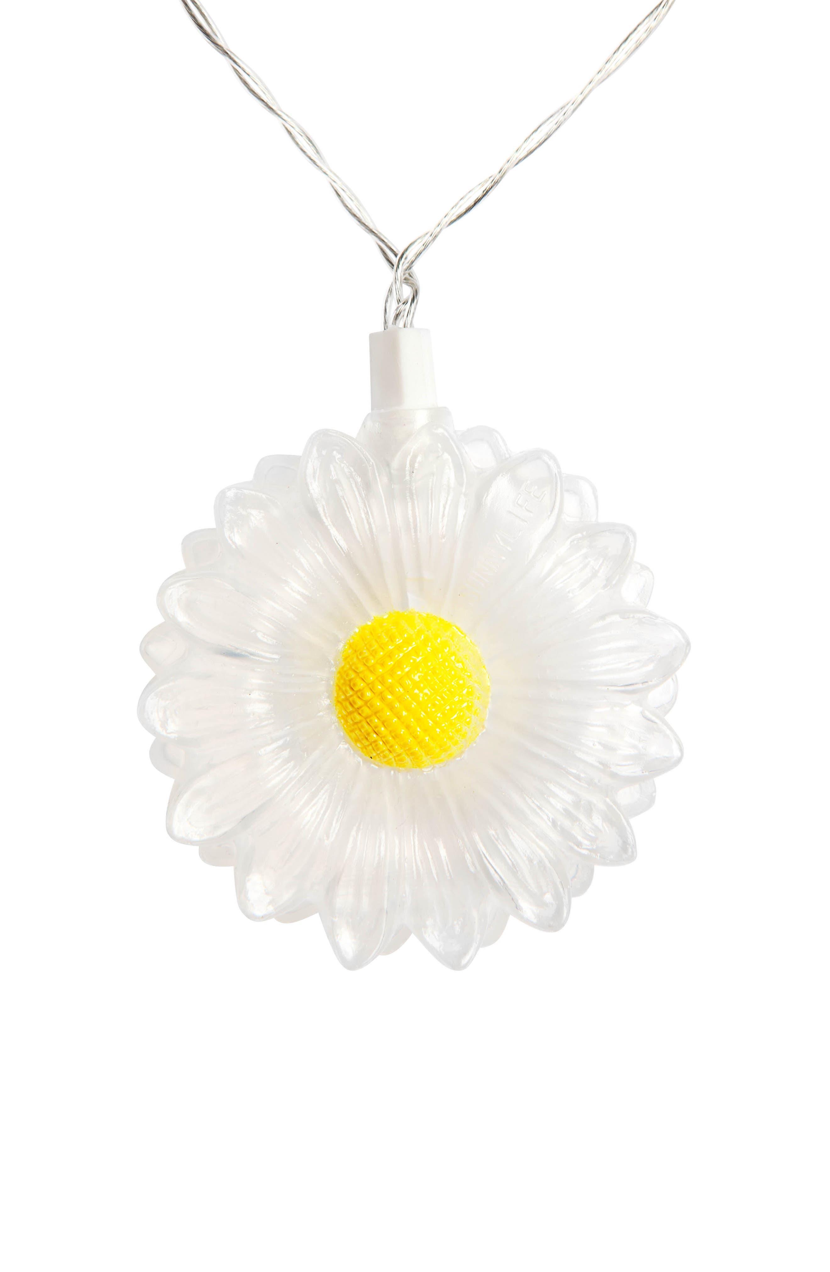 Daisy Battery Powered String Lights,                             Alternate thumbnail 2, color,                             White
