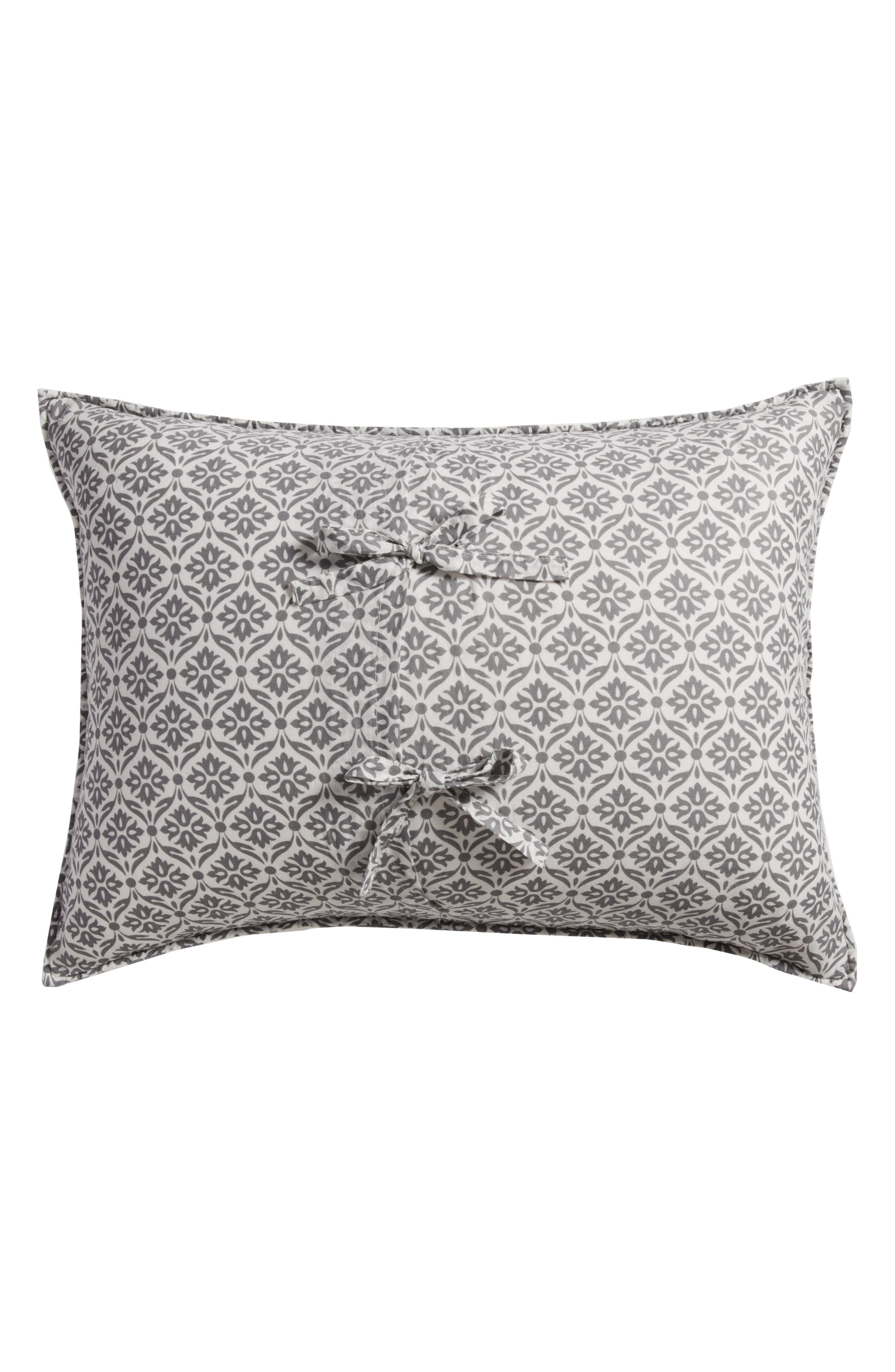 Arden Standard Sham,                             Alternate thumbnail 3, color,                             Grey