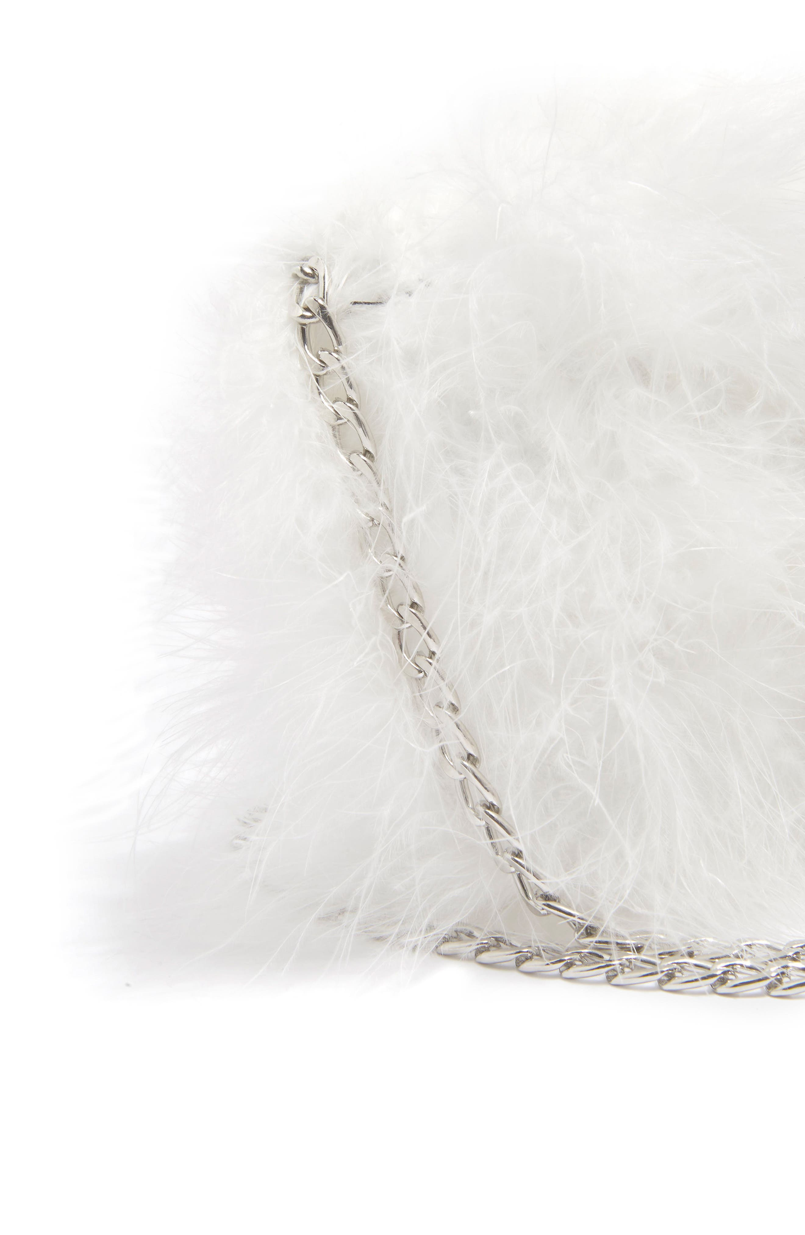 Riga Feather Crossbody Bag,                             Alternate thumbnail 4, color,                             White