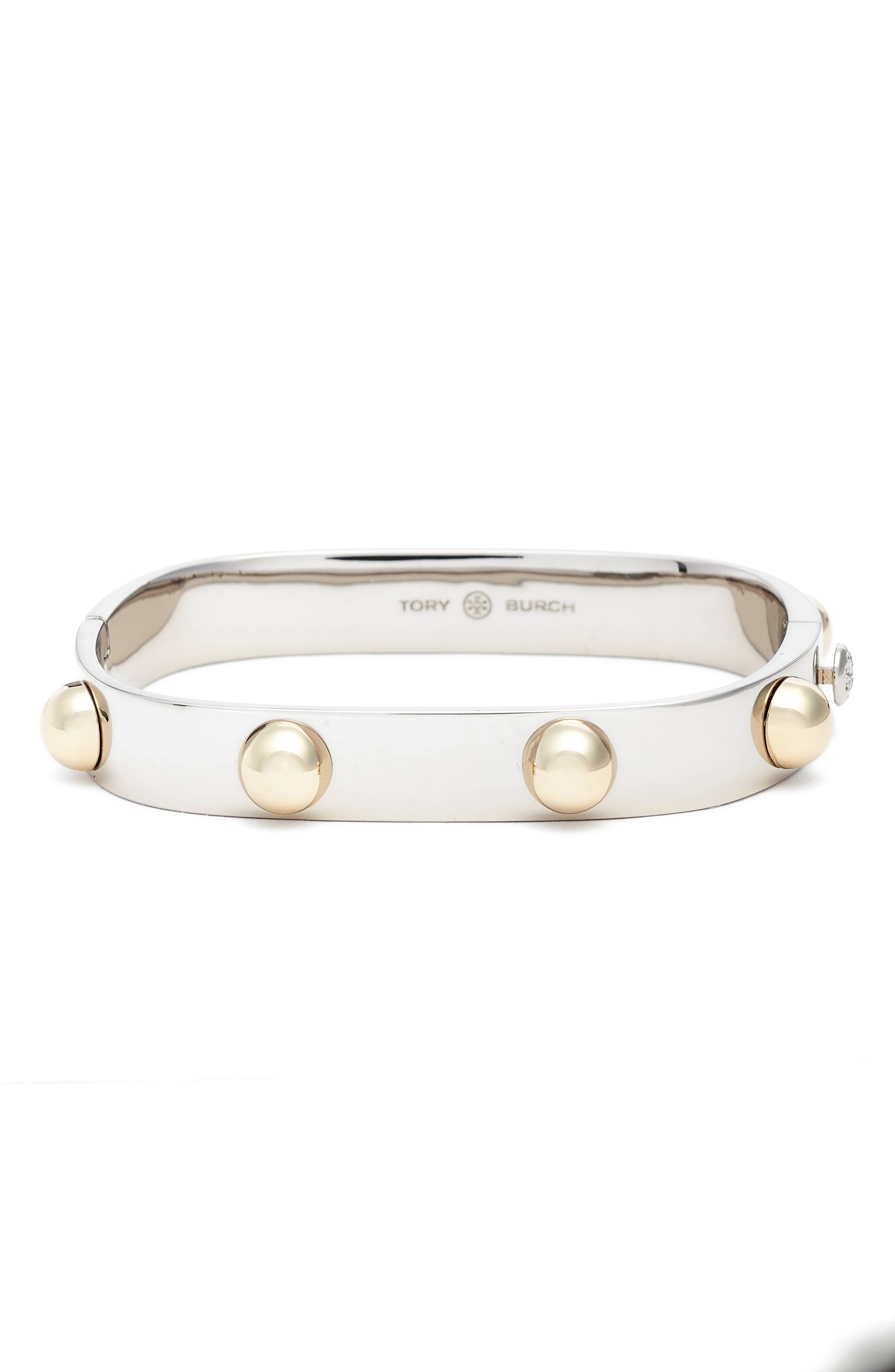 Alternate Image 1 Selected - Tory Burch Stacked Studded Cuff Bracelet