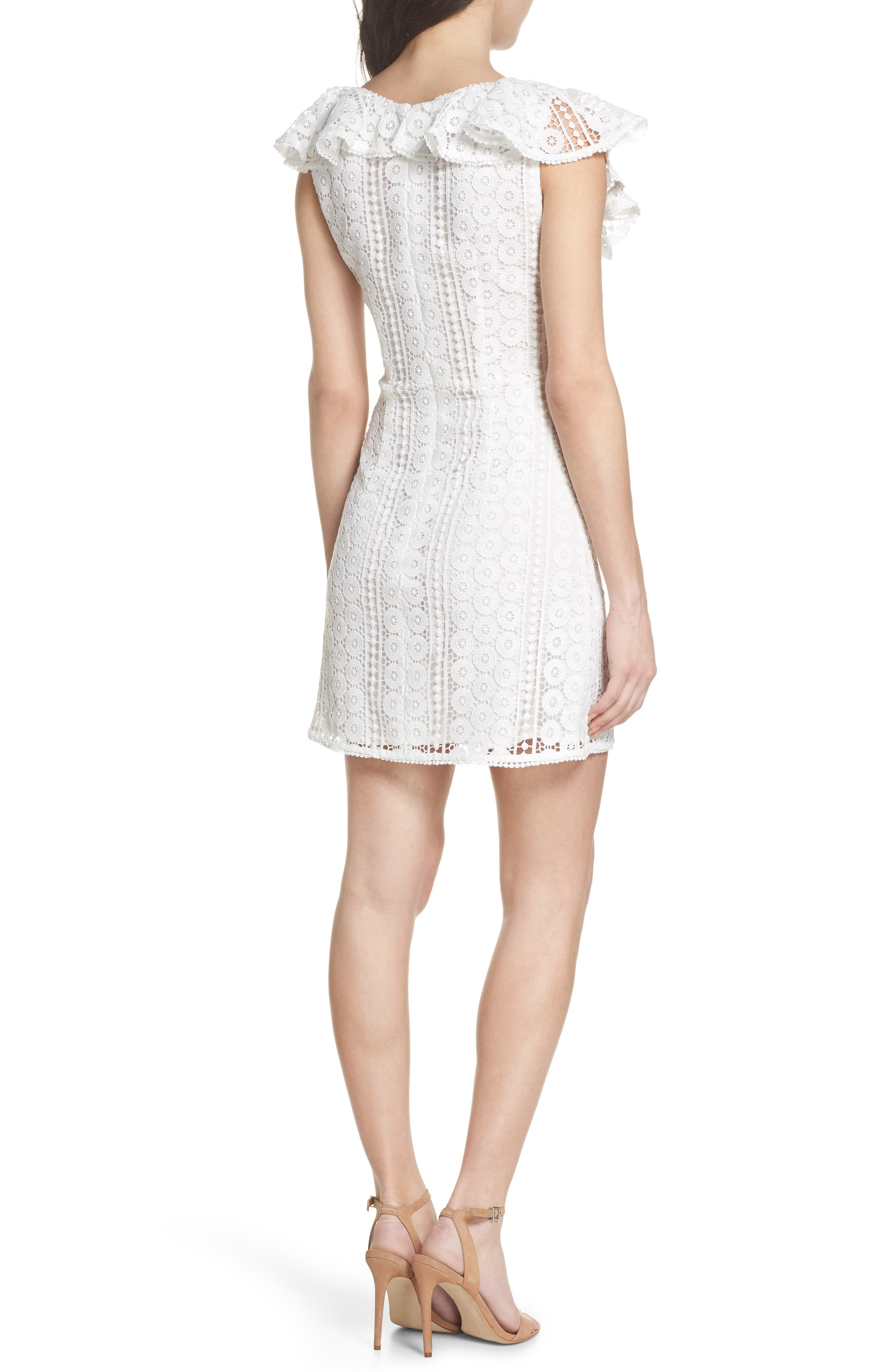 Massey Lace Dress,                             Alternate thumbnail 2, color,                             Summer White