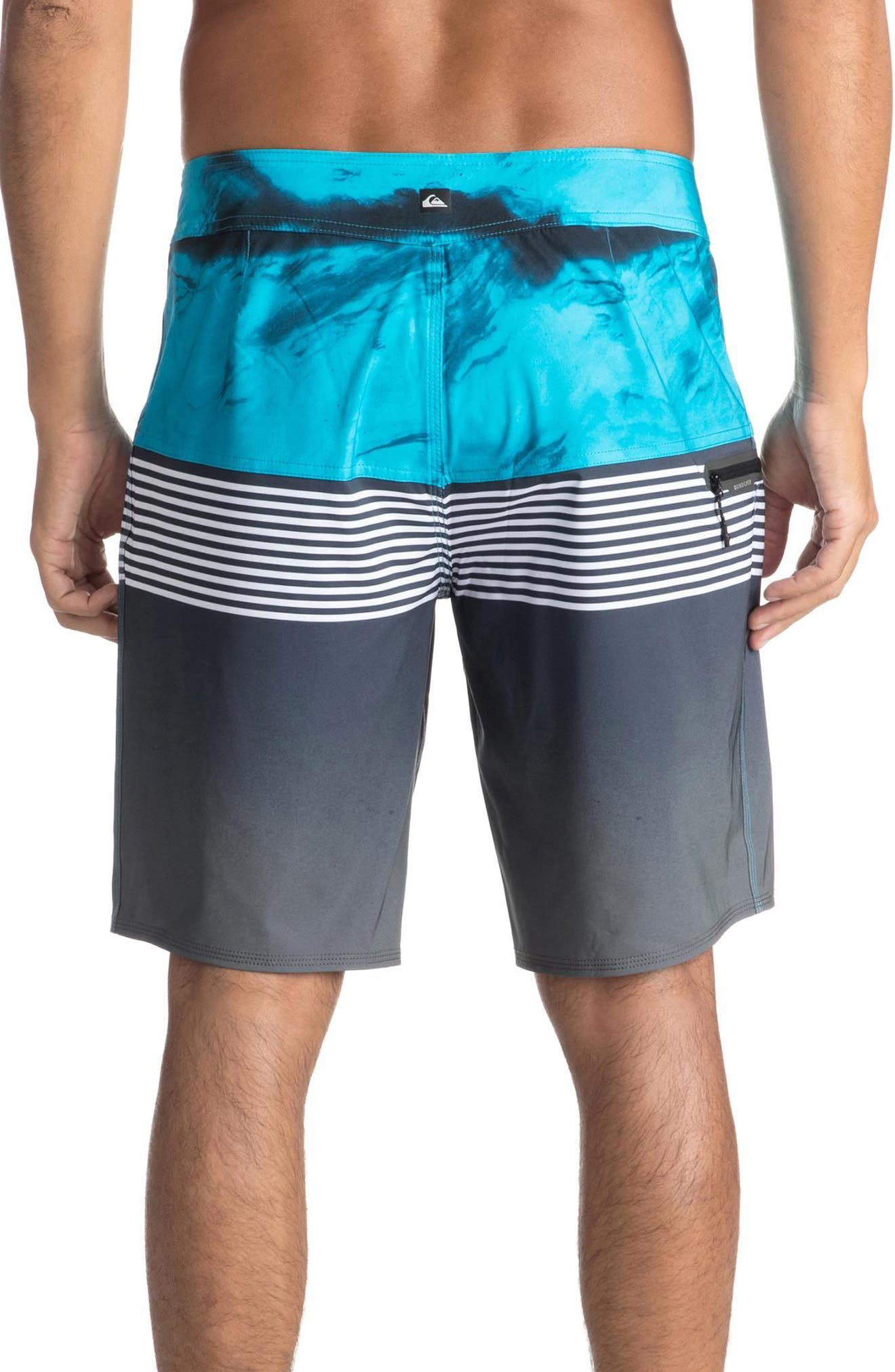 Highline Lava Division Board Shorts,                             Alternate thumbnail 2, color,                             Black