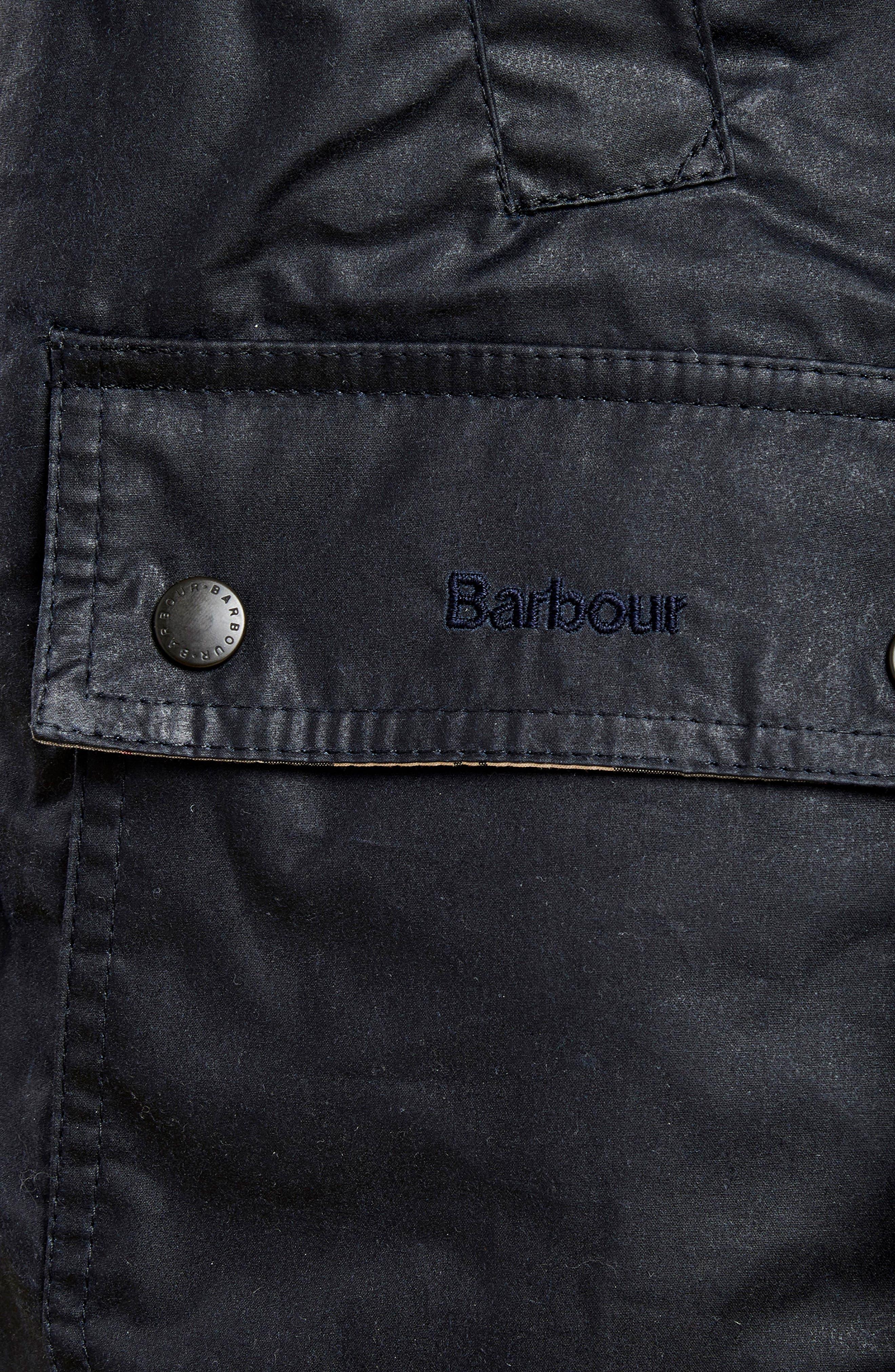 Acorn Water Resistant Waxed Cotton Jacket,                             Alternate thumbnail 6, color,                             Royal Navy