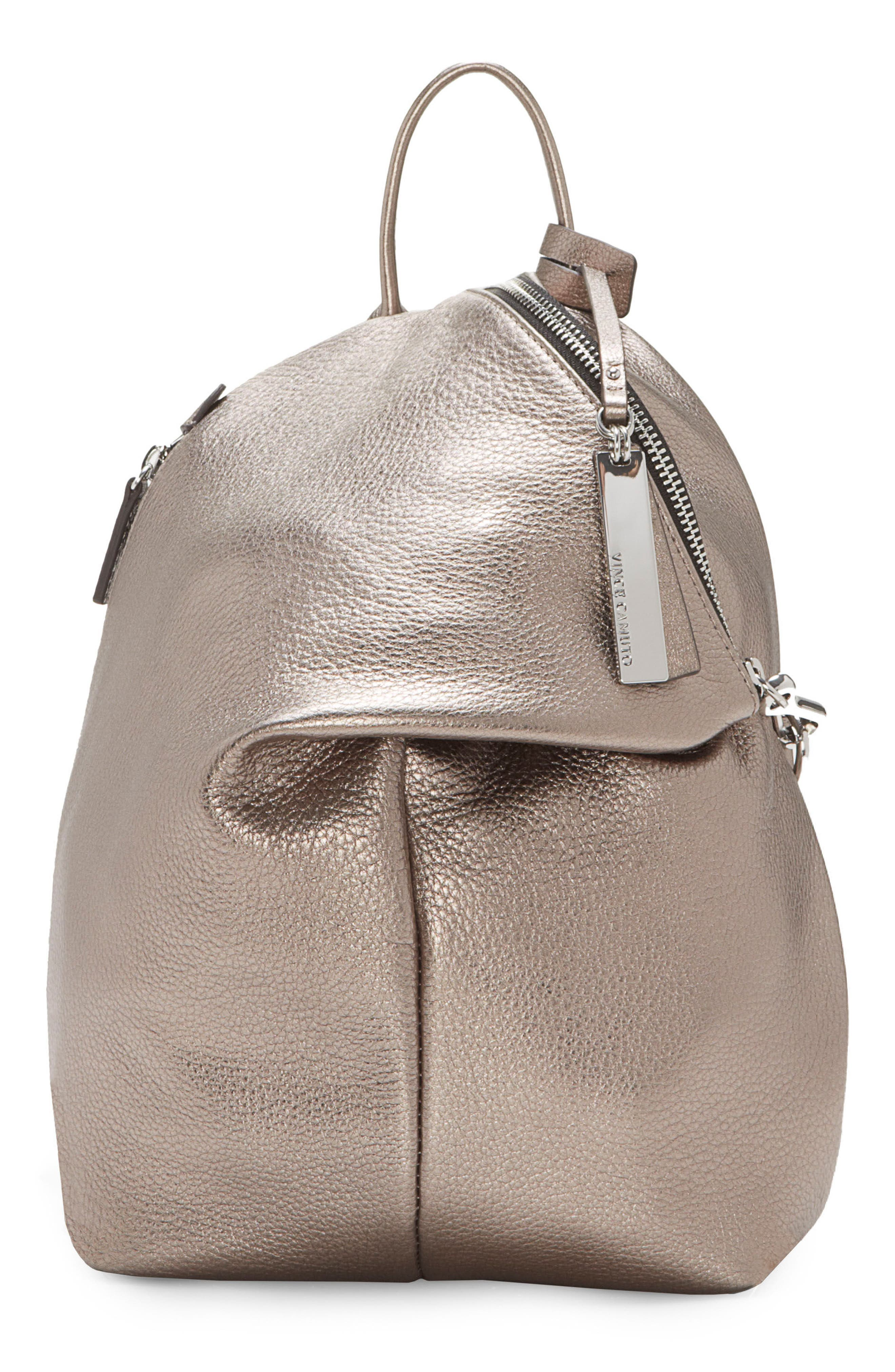 Alternate Image 1 Selected - Vince Camuto Small Giani Leather Backpack
