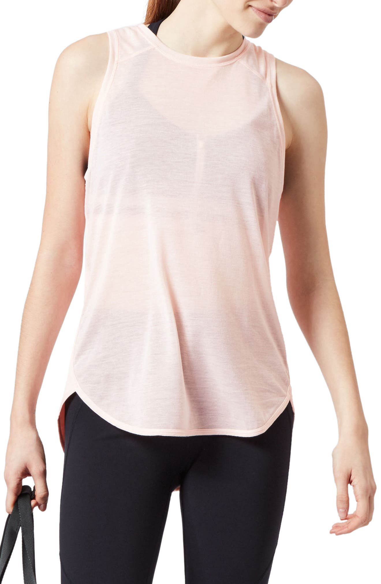 Pacesetter Run Tank,                         Main,                         color, Liberated Pink