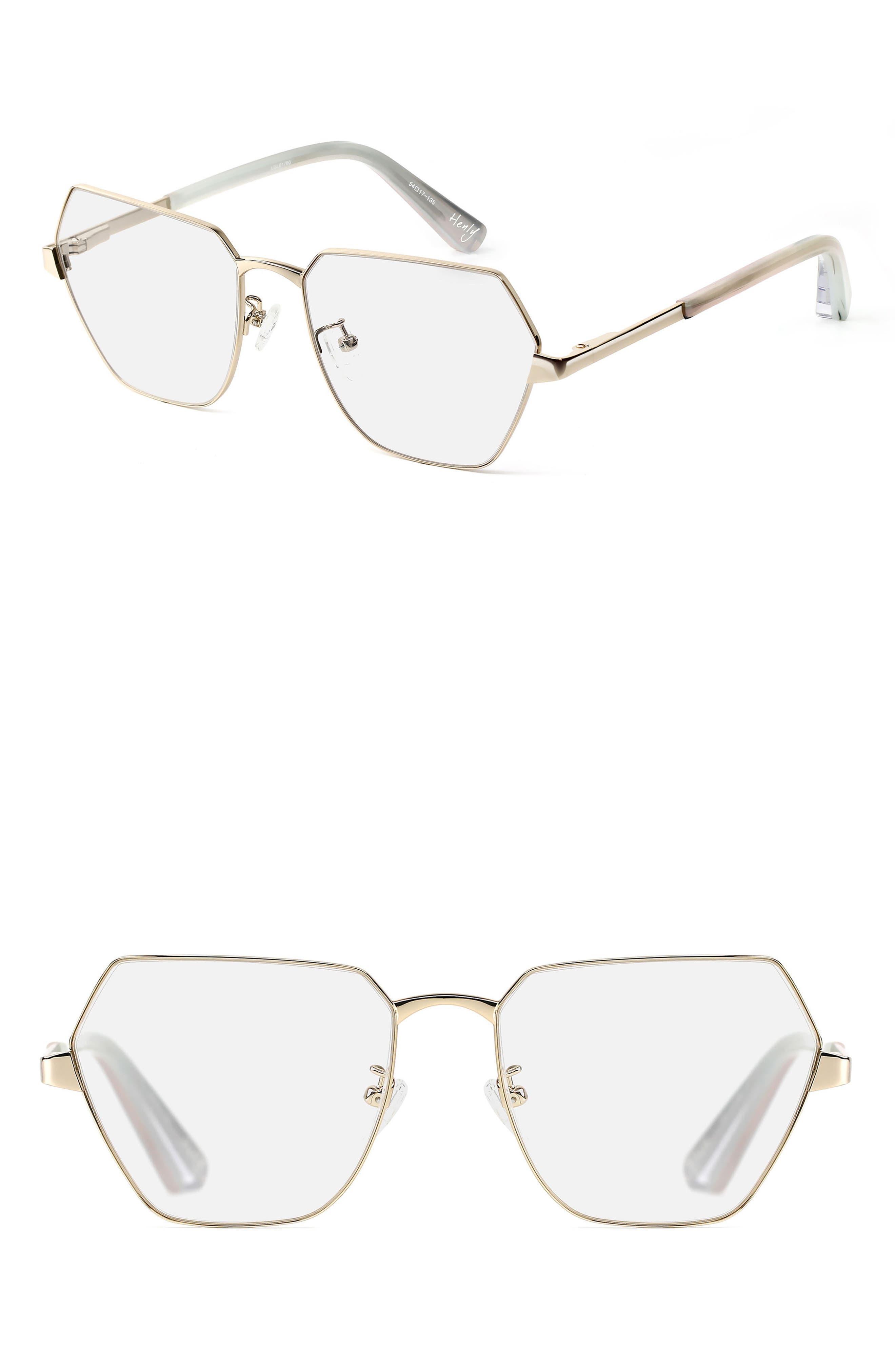 Henly 54mm Optical Glasses,                             Main thumbnail 1, color,                             Light Gold