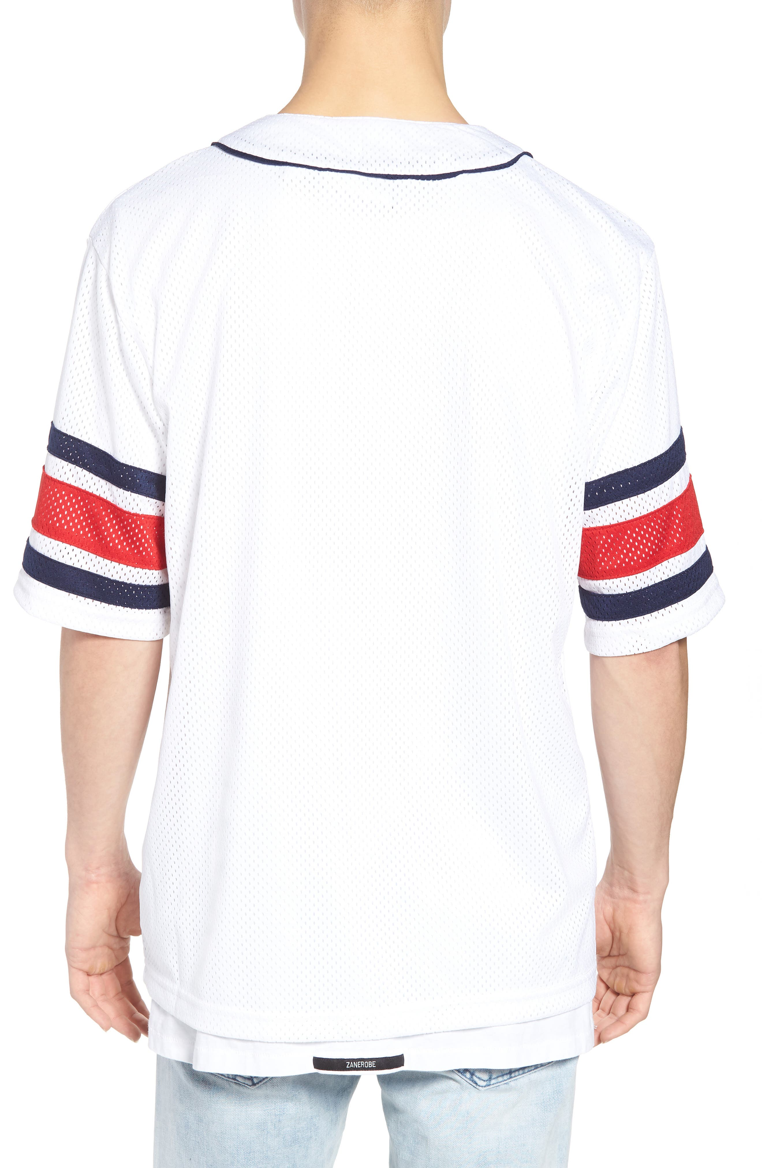 Kyler Baseball Jersey,                             Alternate thumbnail 2, color,                             White/ Peacoat/ Chinese Red