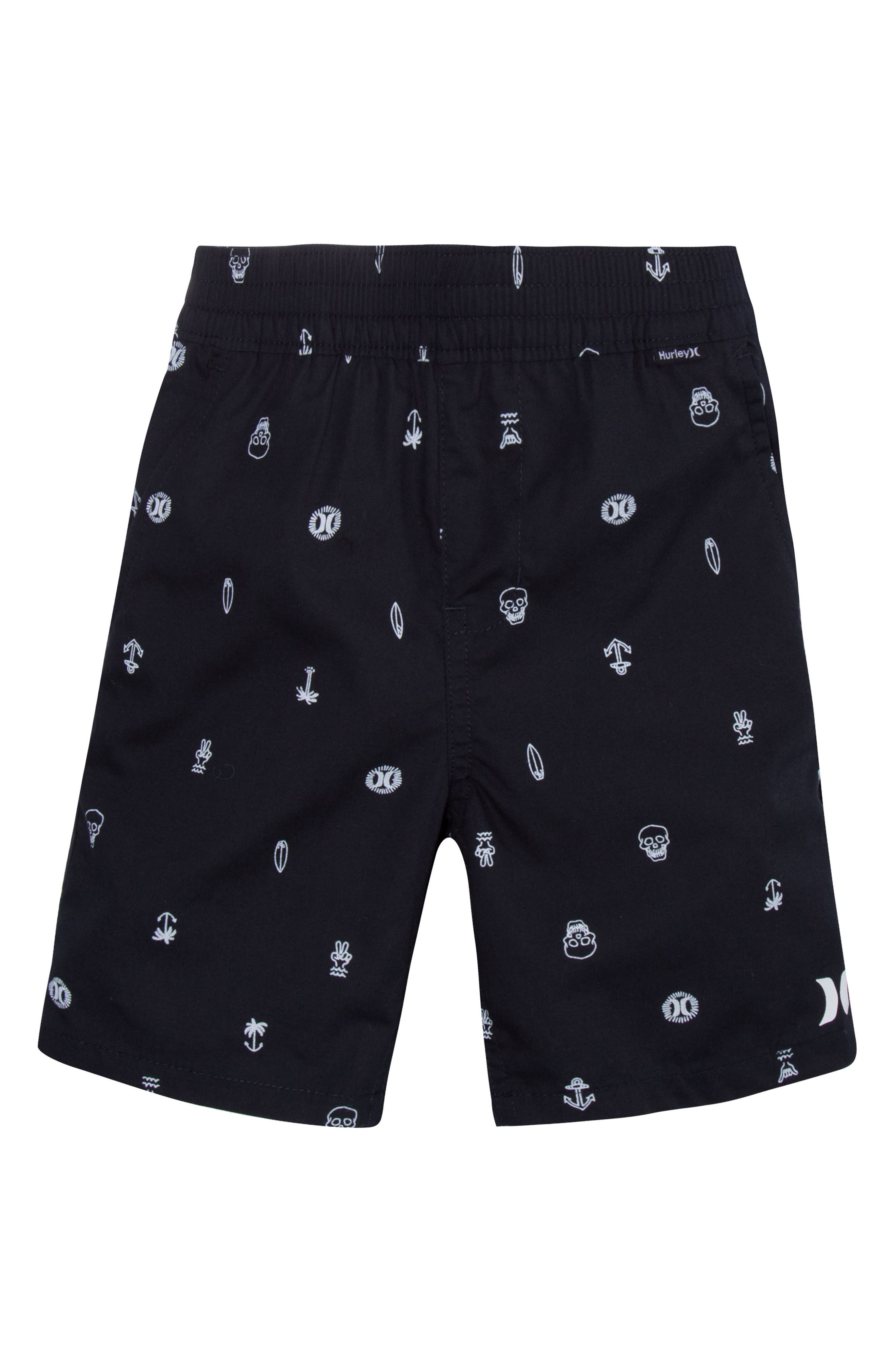Alternate Image 1 Selected - Hurley Poplin Pull-On Shorts (Toddler Boys & Little Boys)