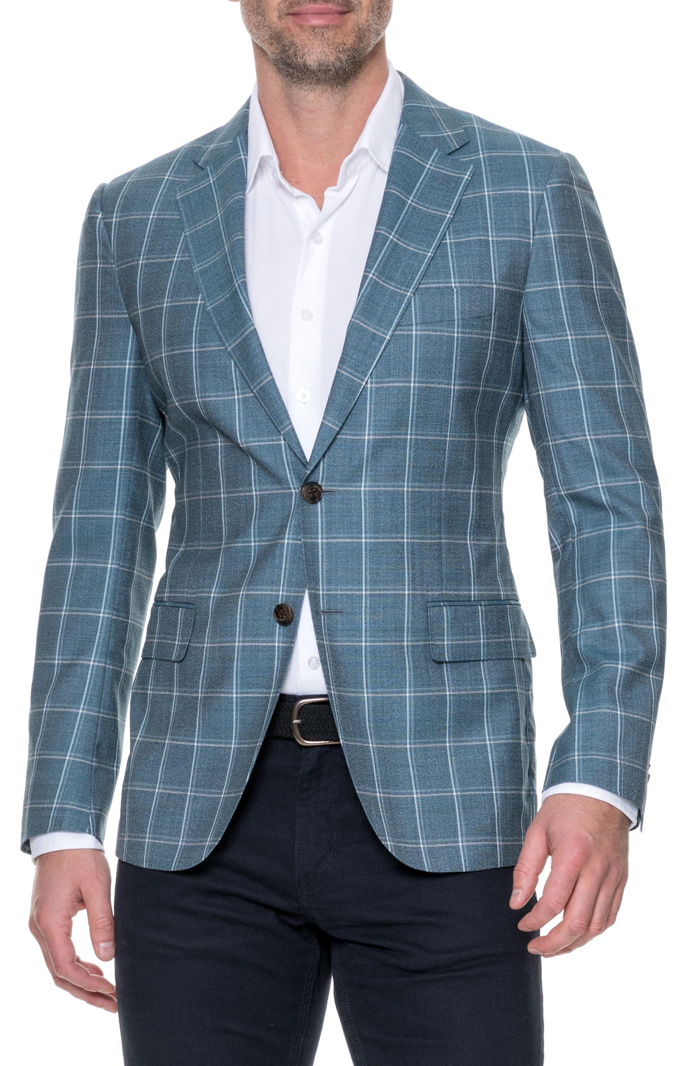 Middleton Regular Fit Wool Sport Coat,                         Main,                         color, Sage
