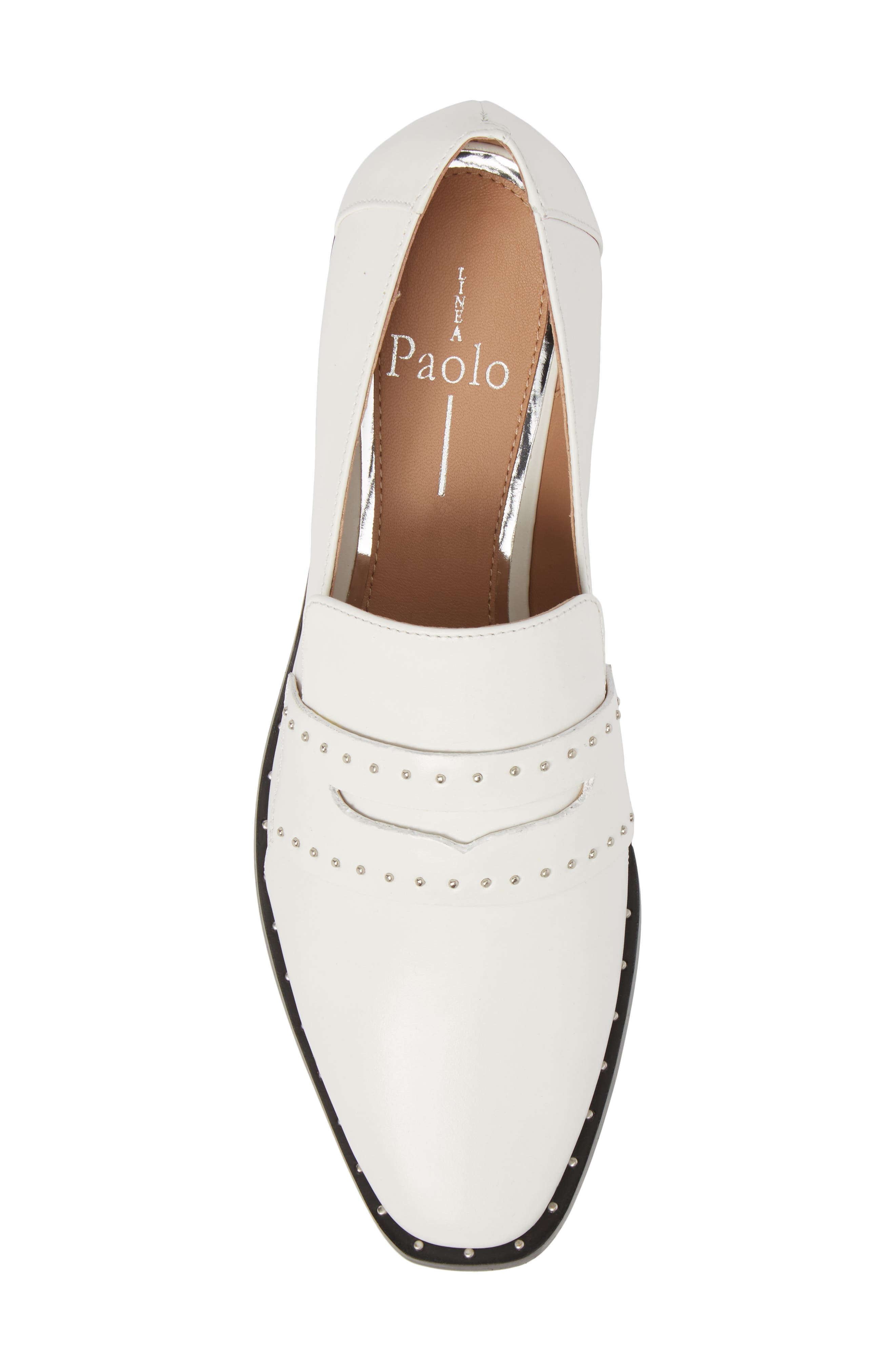 Tara Penny Loafer,                             Alternate thumbnail 5, color,                             Off White Leather