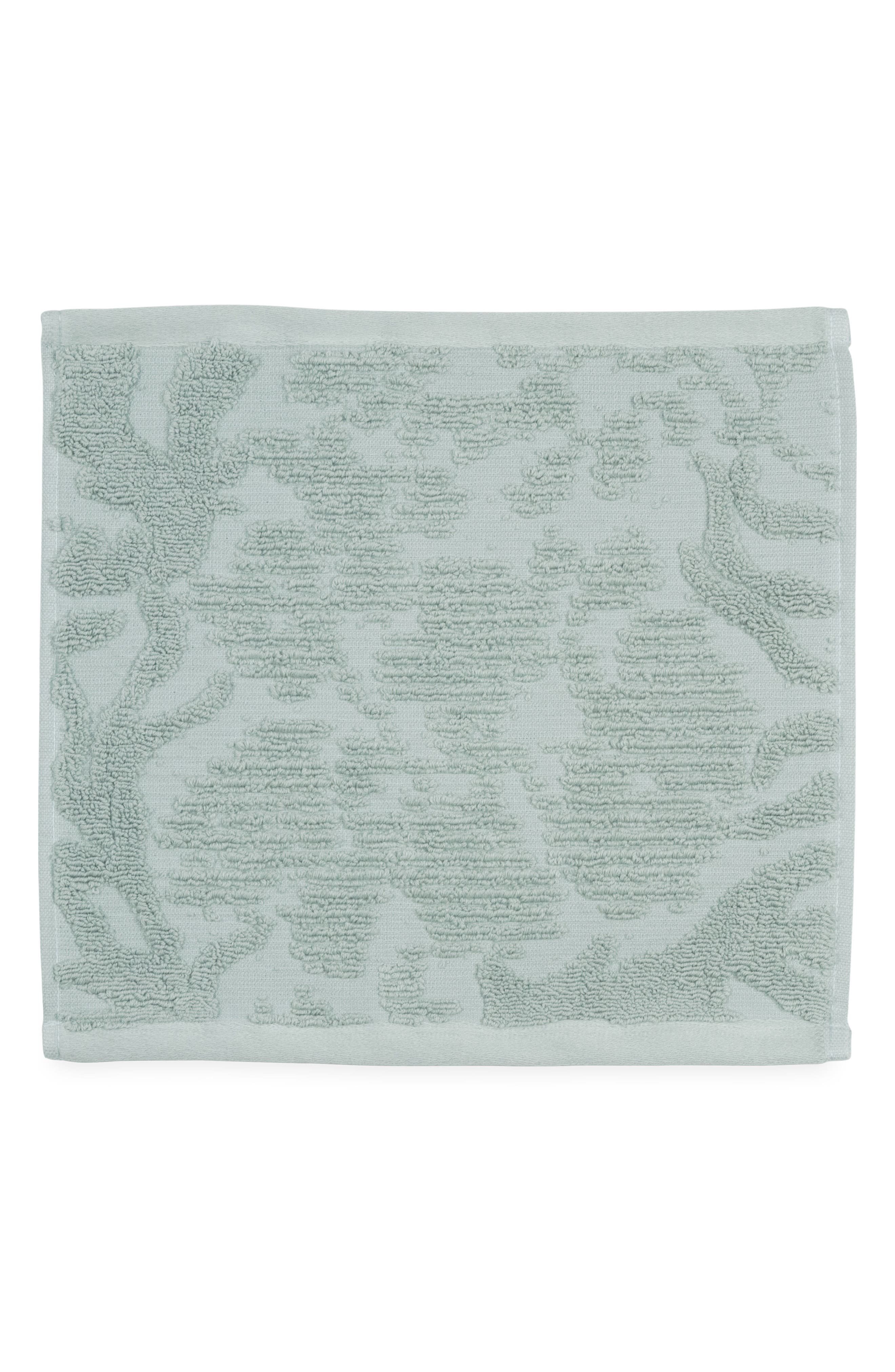 Ocean Reef Washcloth,                         Main,                         color, Seafoam