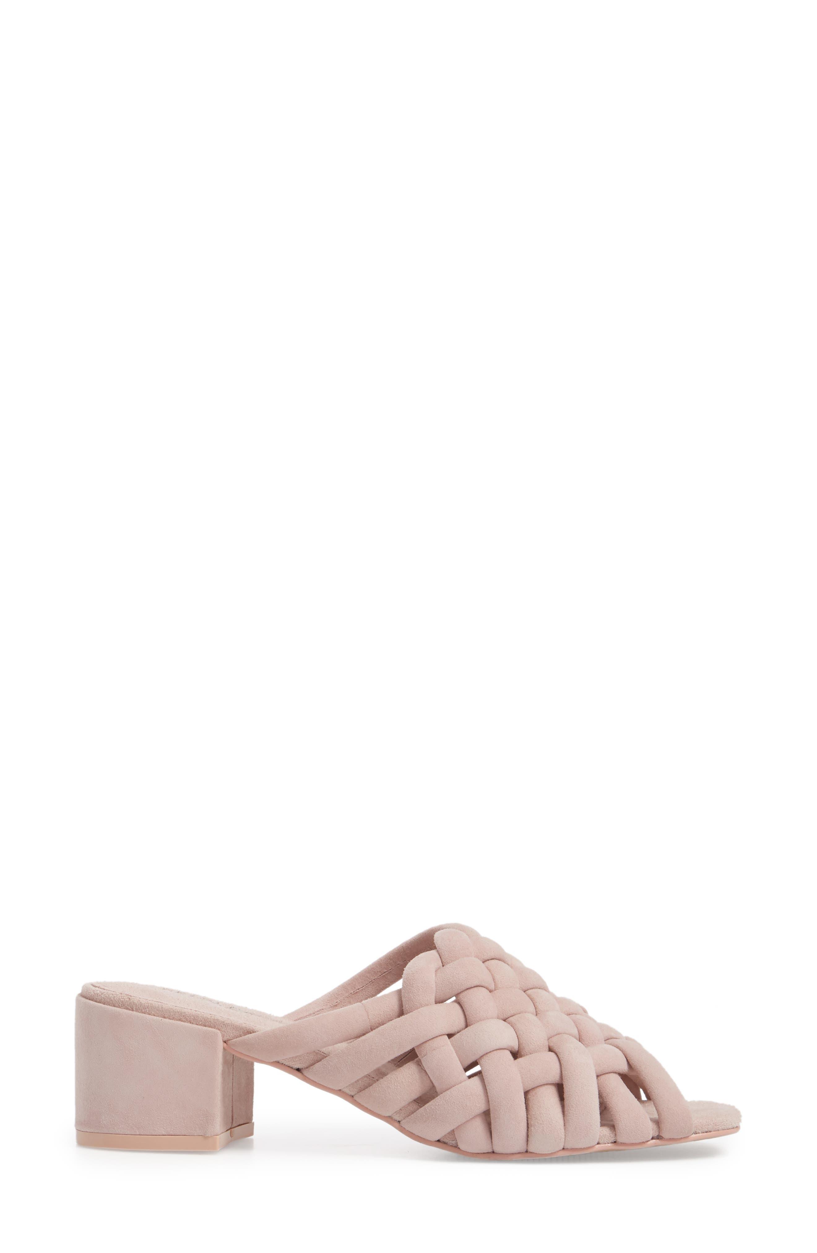 Sky Dress Woven Mule Sandal,                             Alternate thumbnail 3, color,                             Pale Pink