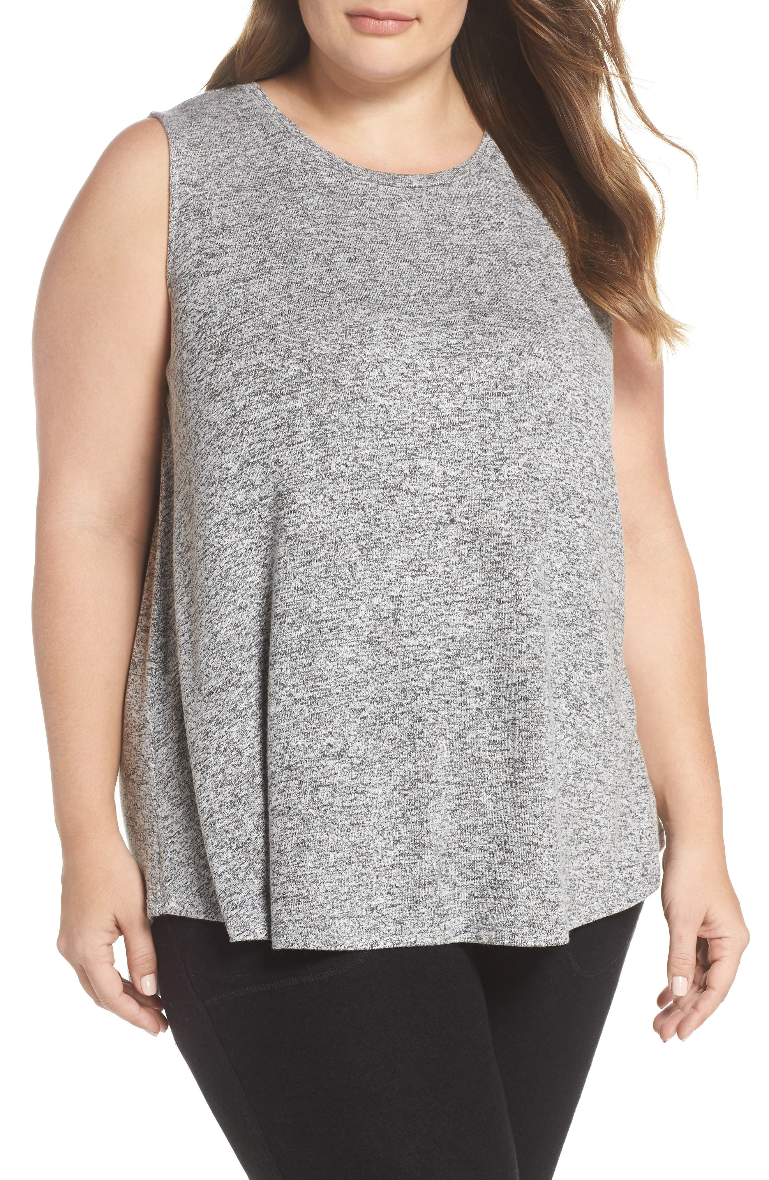 x Living in Yellow Millie Muscle Tank,                             Main thumbnail 1, color,                             Heather Grey Marled