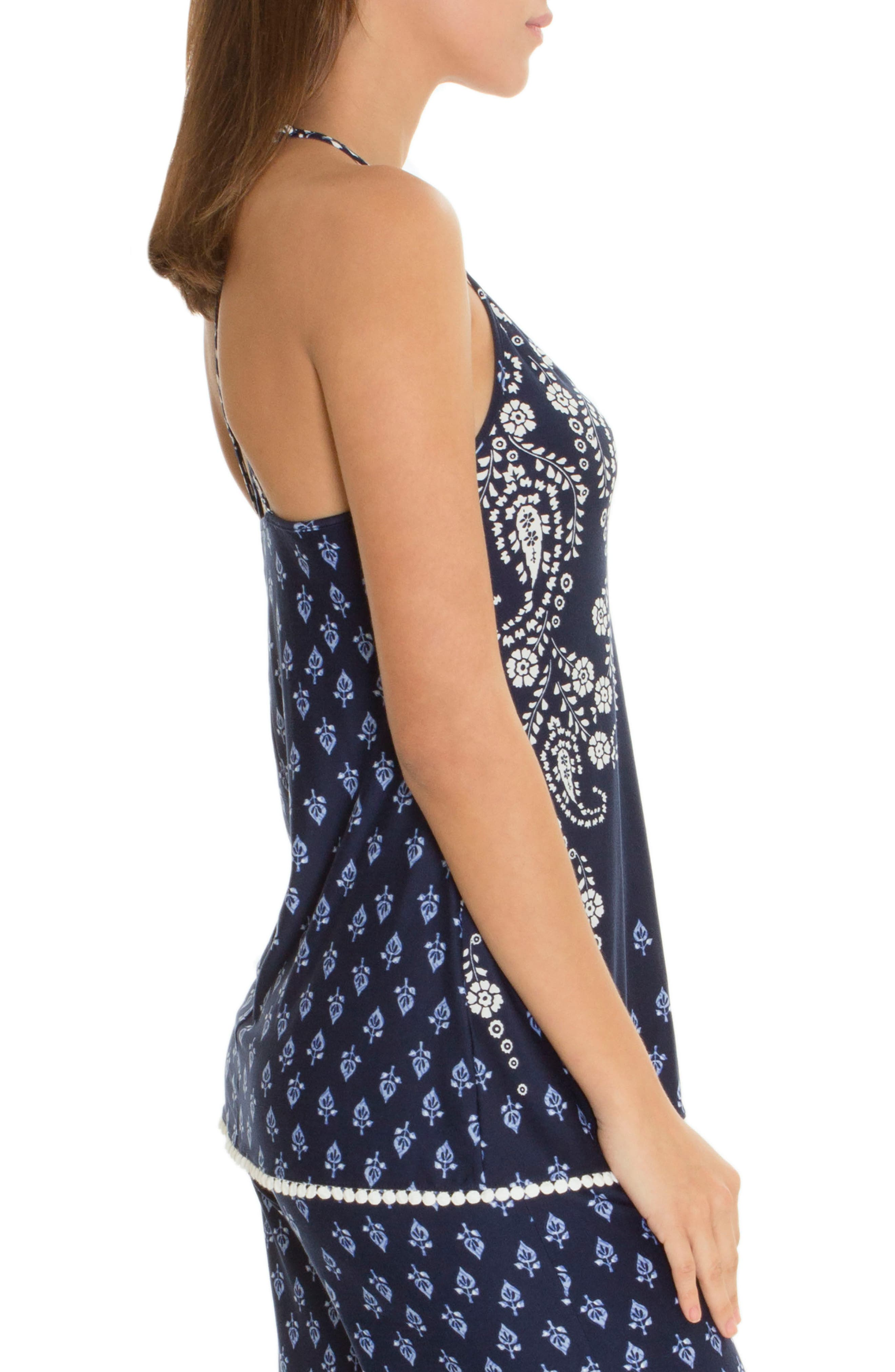 Camisole,                             Alternate thumbnail 3, color,                             Navy/ Ivory Print