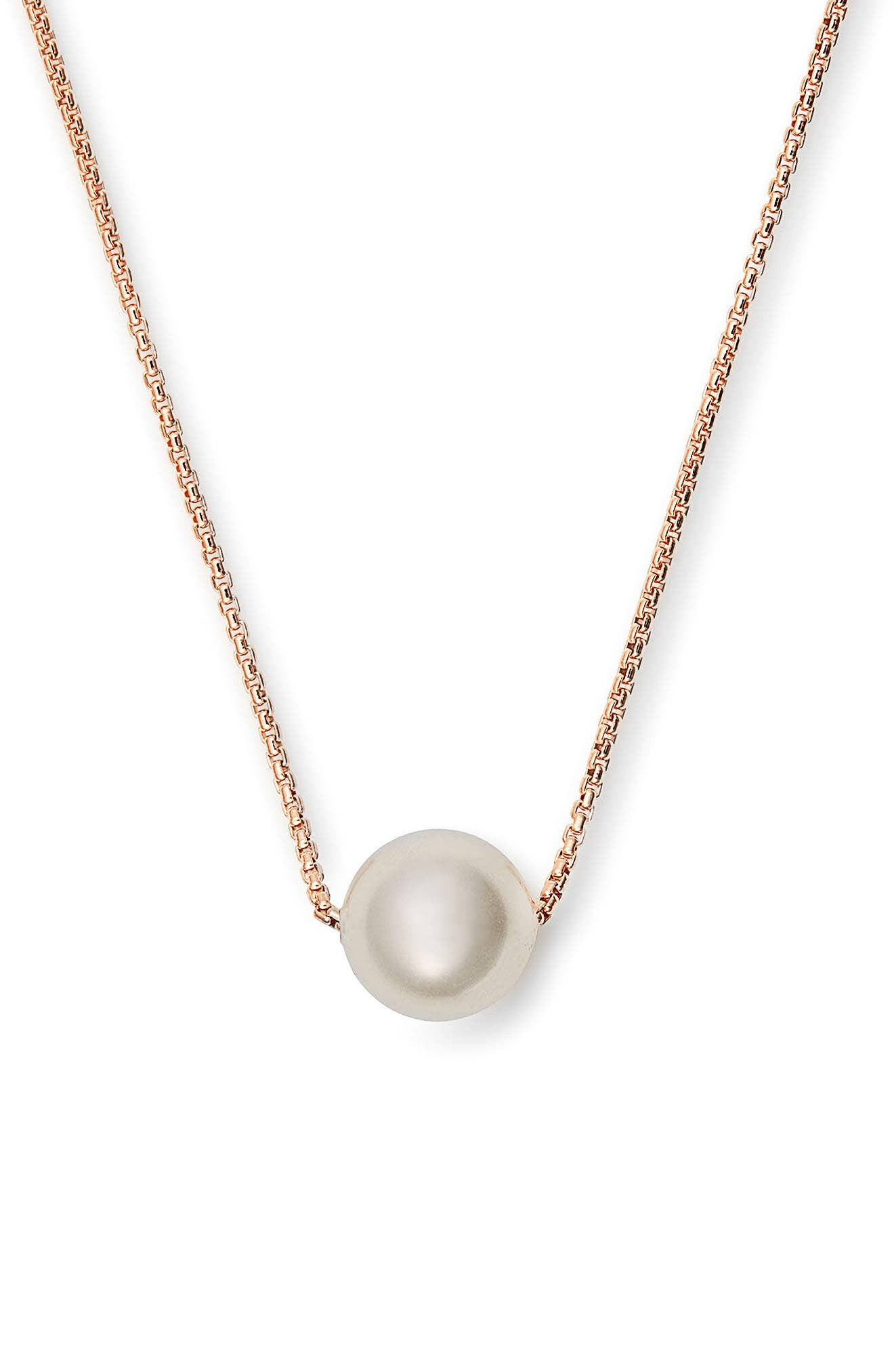 White Sea Sultry Adjustable Necklace,                         Main,                         color, Rose Gold