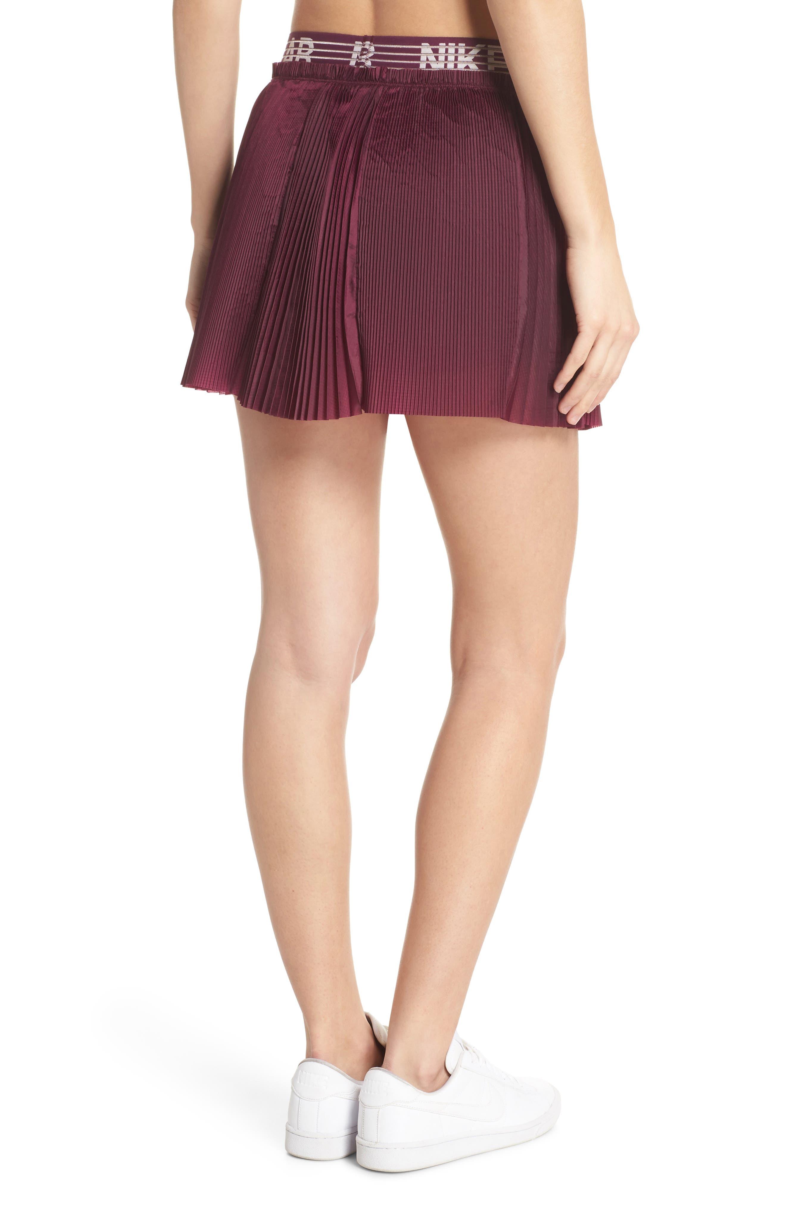 NikeLab Collection Dri-FIT Tennis Skirt,                             Alternate thumbnail 2, color,                             Bordeaux
