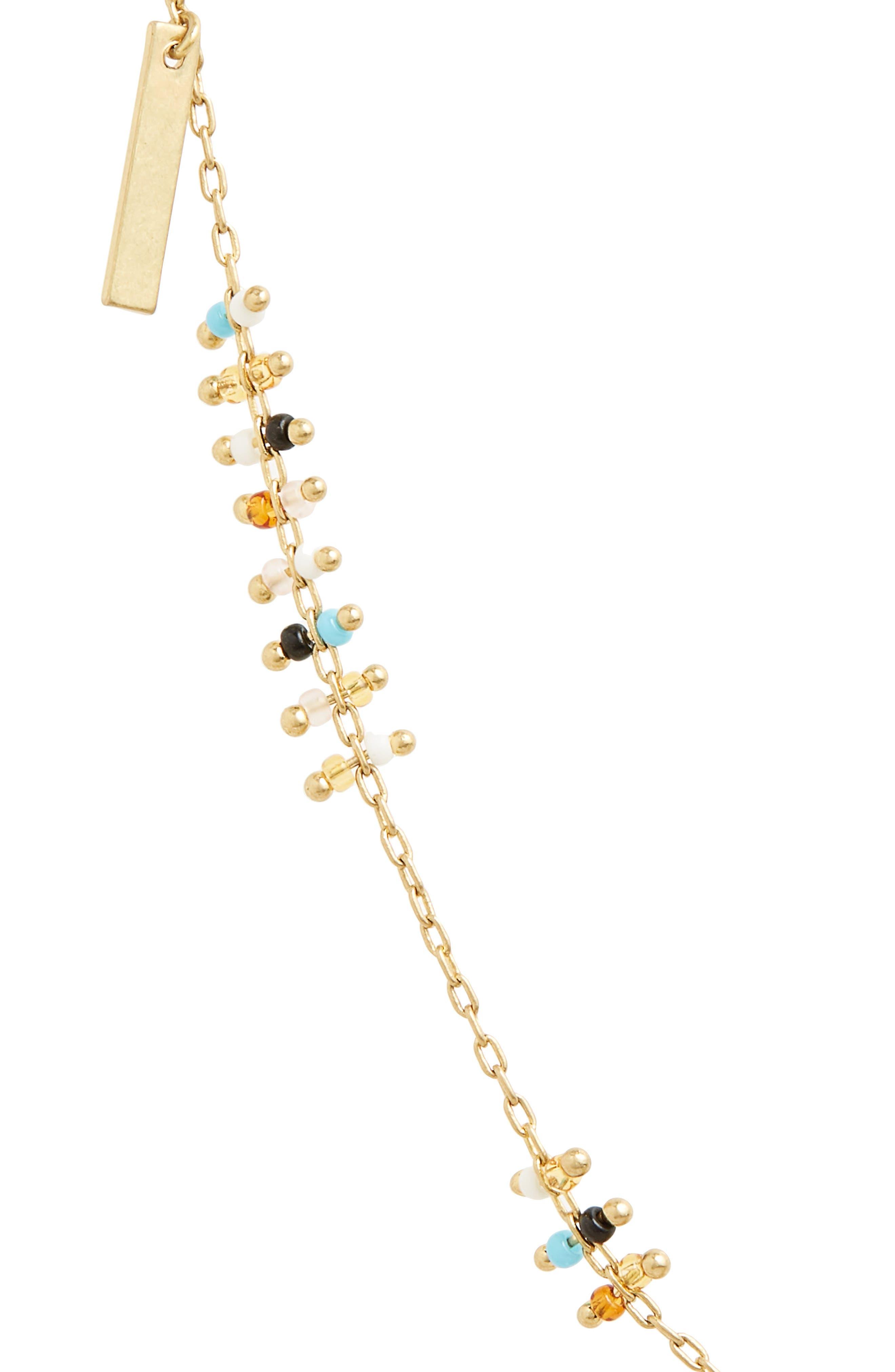 Double Bead & Charm Necklace,                             Alternate thumbnail 2, color,                             Turq Multi