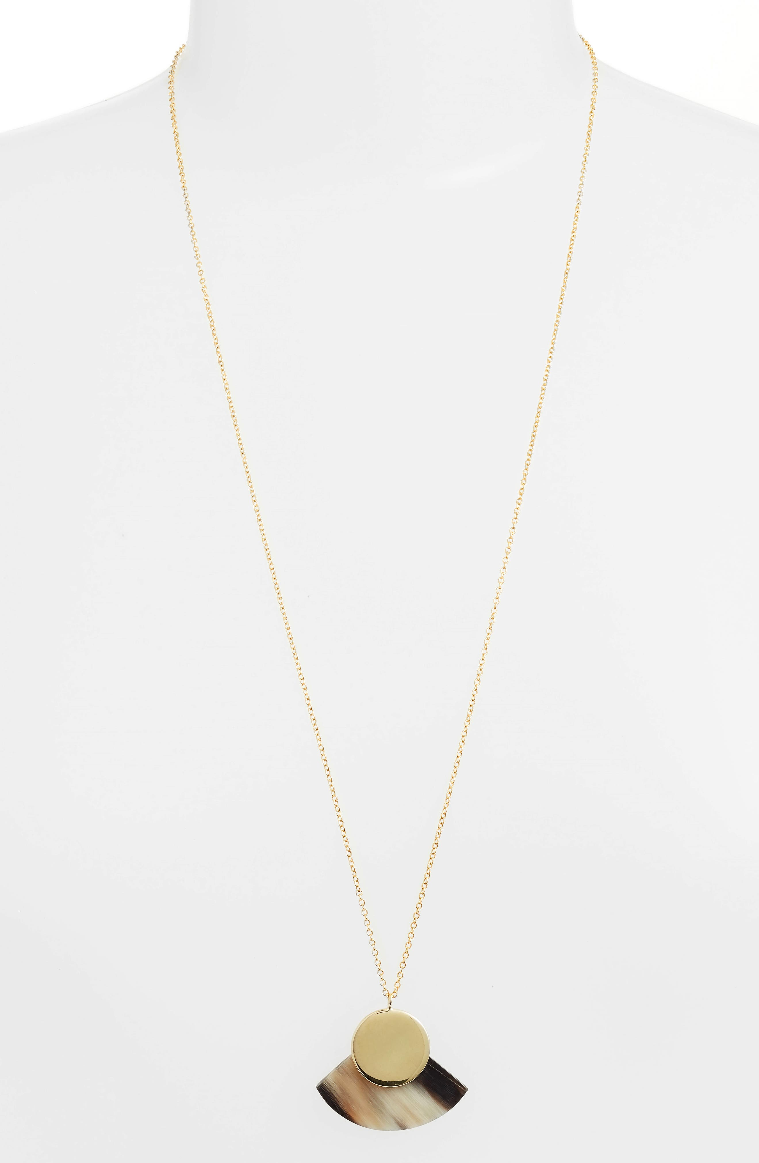 Soko Horn Paddle Pendant Necklace
