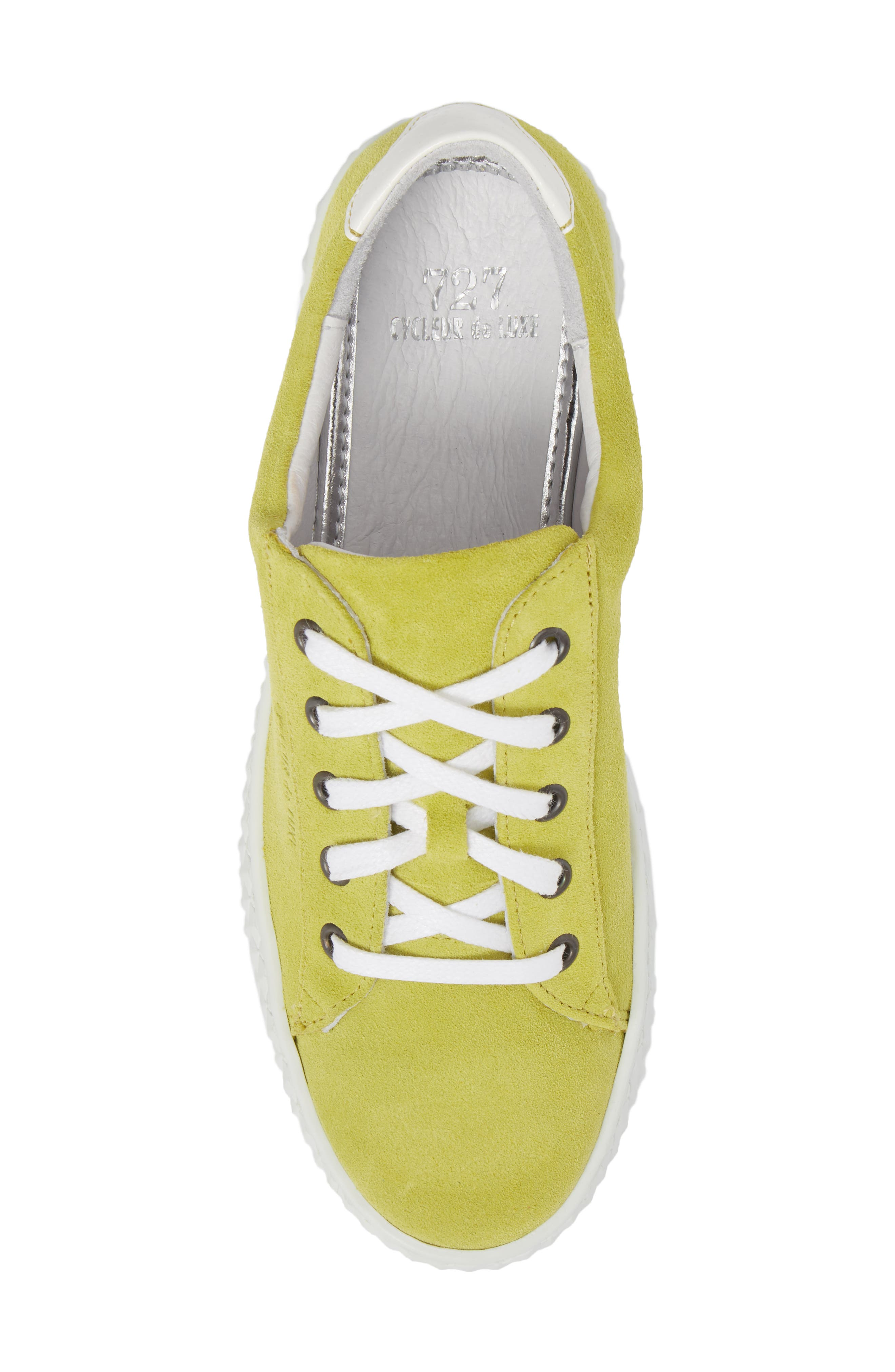 Albufeira Sneaker,                             Alternate thumbnail 5, color,                             Lime/ Optic White Suede