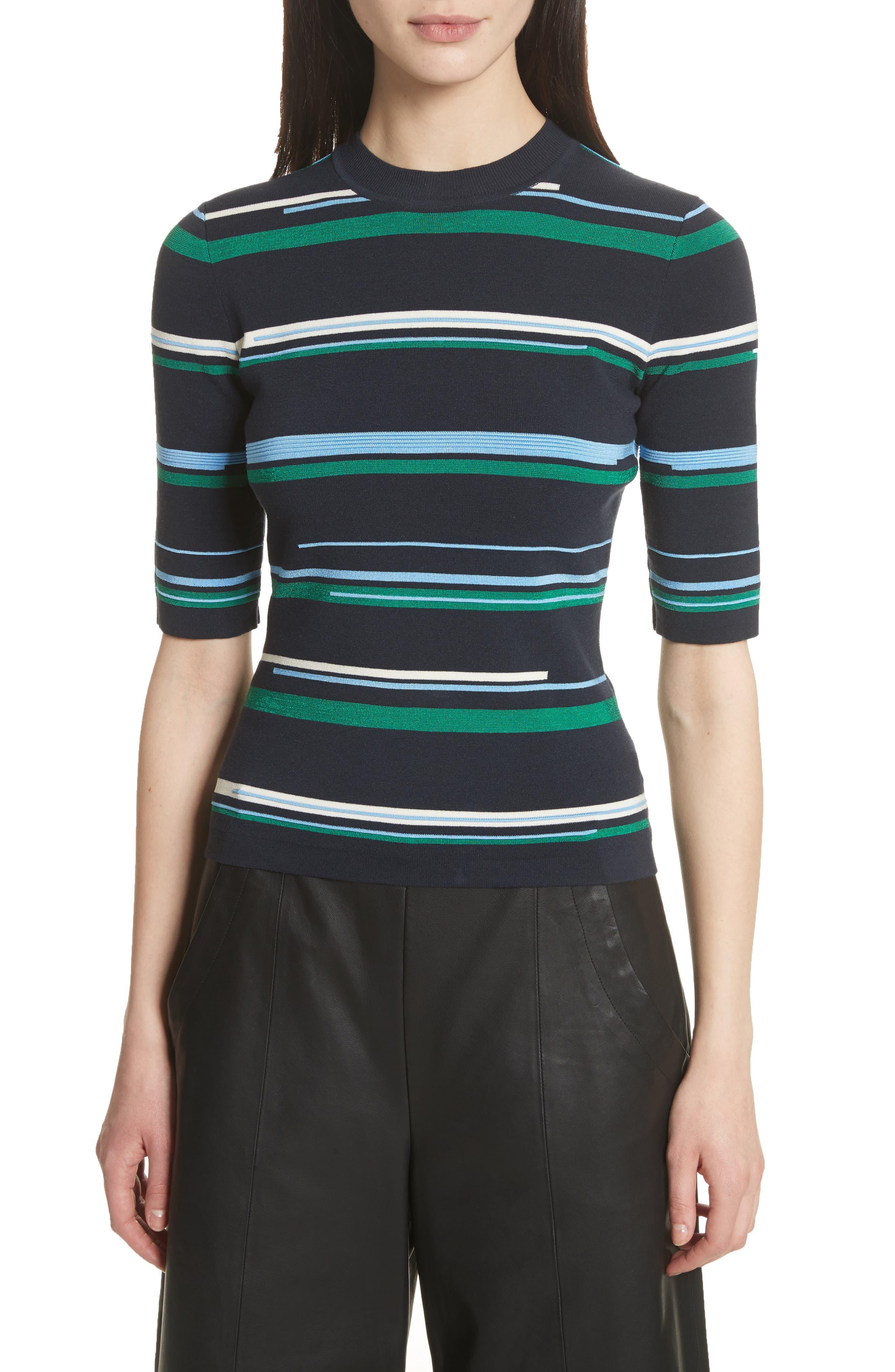 Stripe Knit Top,                         Main,                         color, Midnight Multi