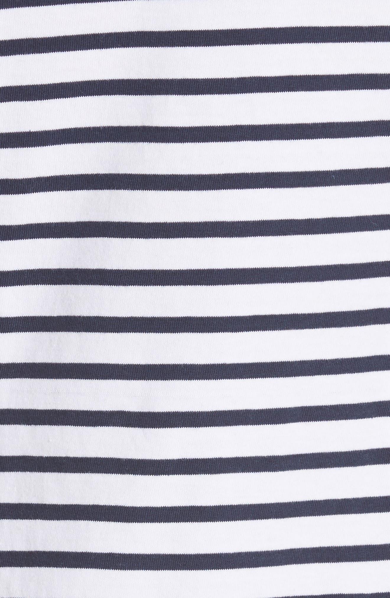 Stevens Stripe Dress,                             Alternate thumbnail 5, color,                             Midnight