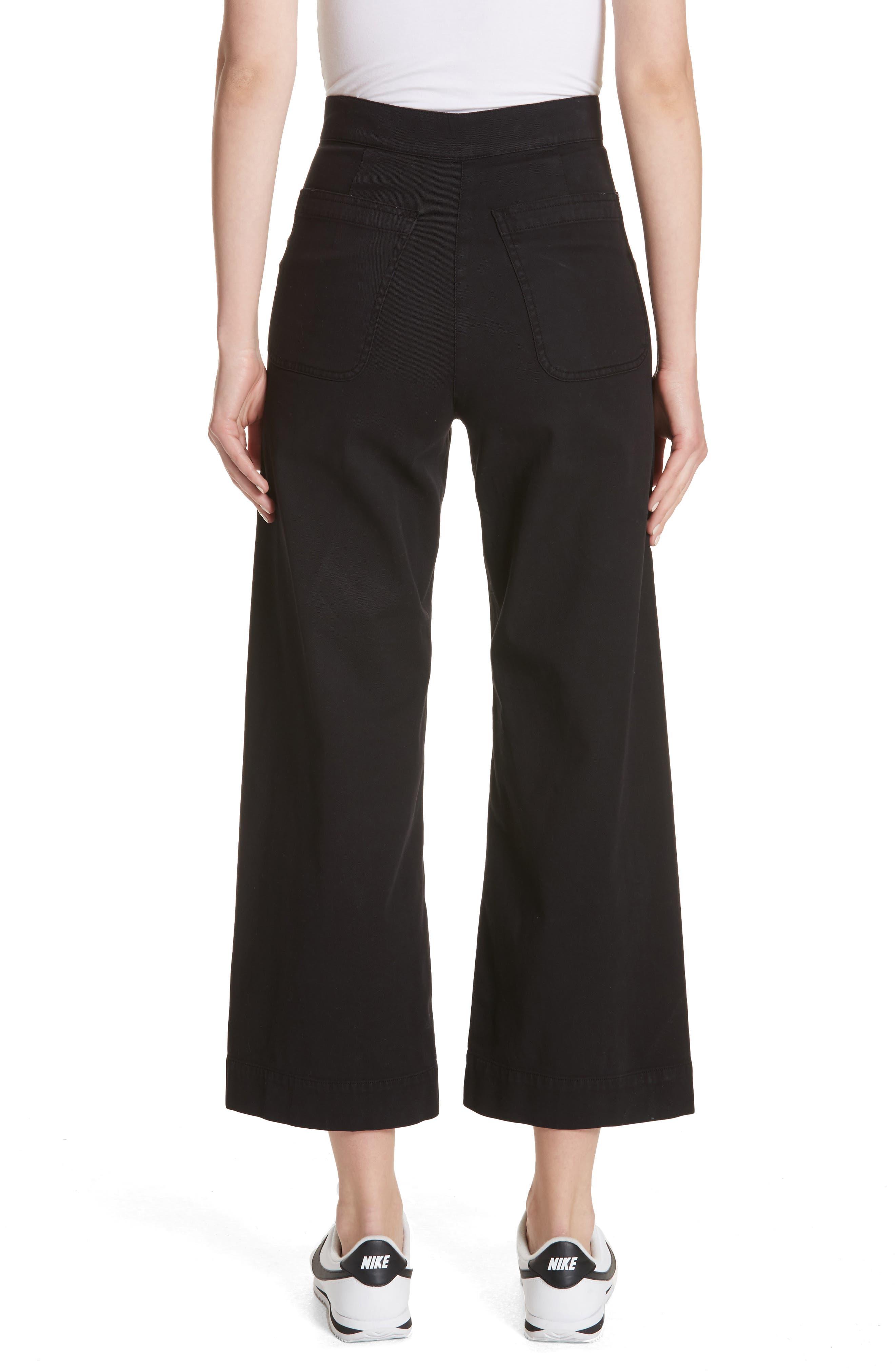Pierce Crop Pants,                             Alternate thumbnail 2, color,                             Black