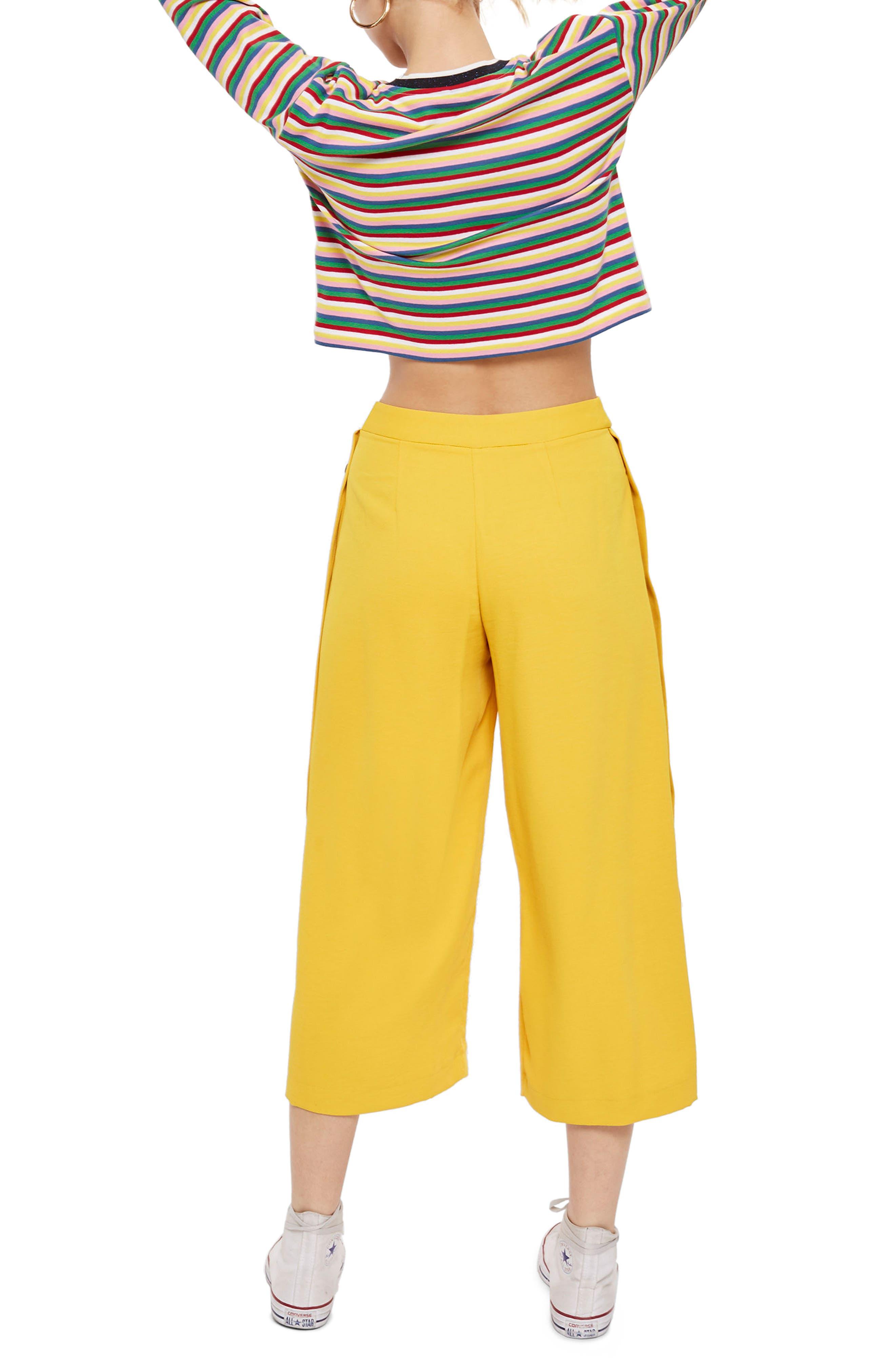 Rainbow Stripe Cotton Pullover,                             Alternate thumbnail 2, color,                             Blue Multi