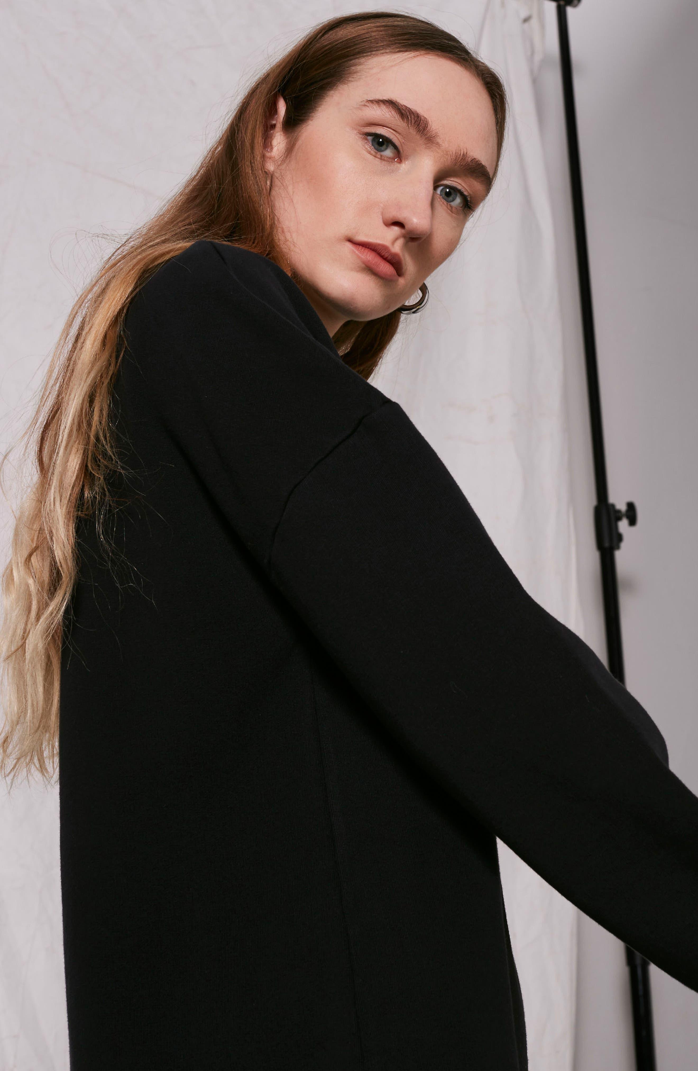 Alternate Image 3  - Topshop Boutique Drawstring Sweater Dress