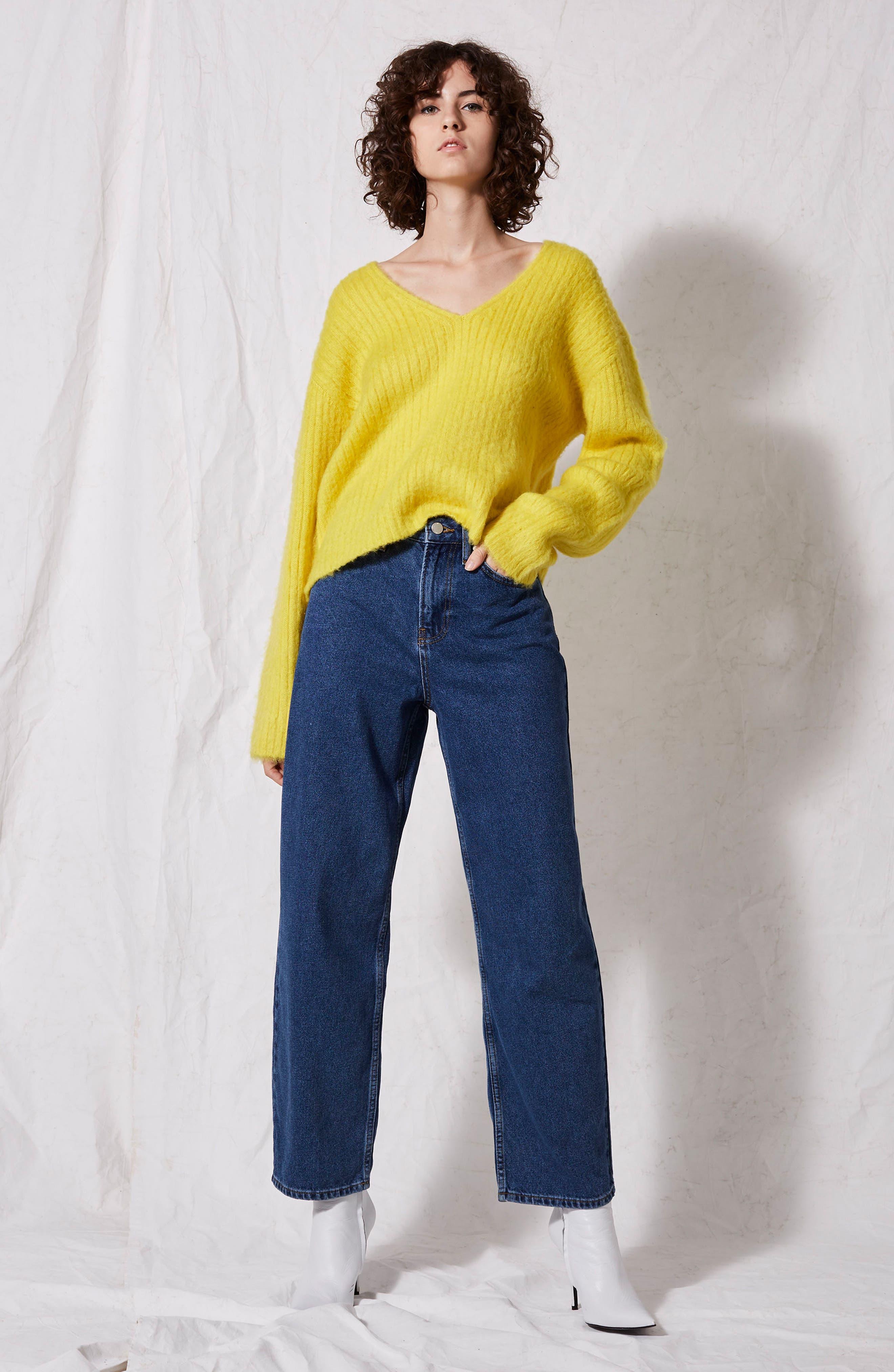 Alternate Image 2  - Topshop Boutique V-Neck Rib Sweater