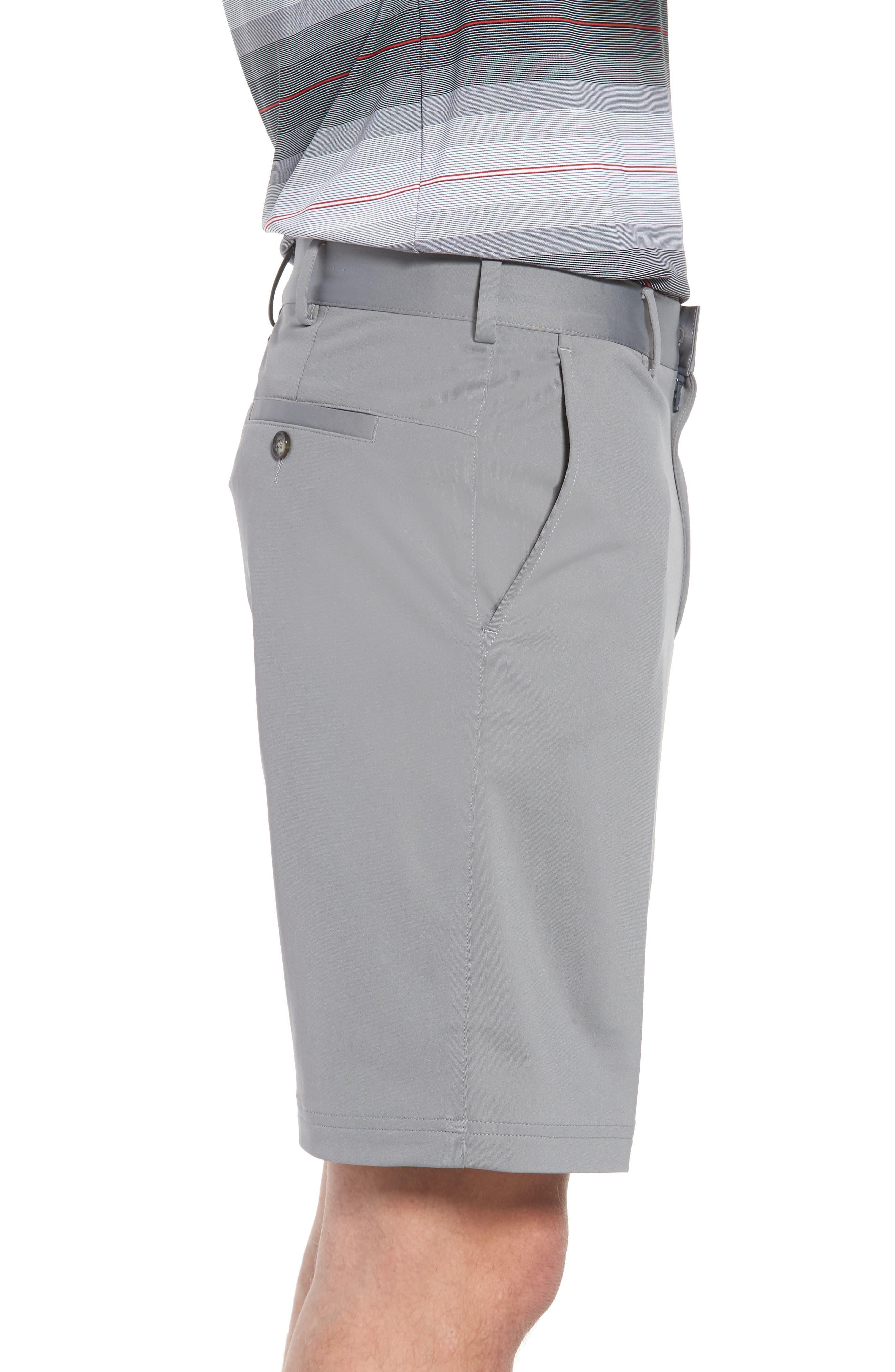 Trim Fit Tech Chino Shorts,                             Alternate thumbnail 3, color,                             Graphite Heather