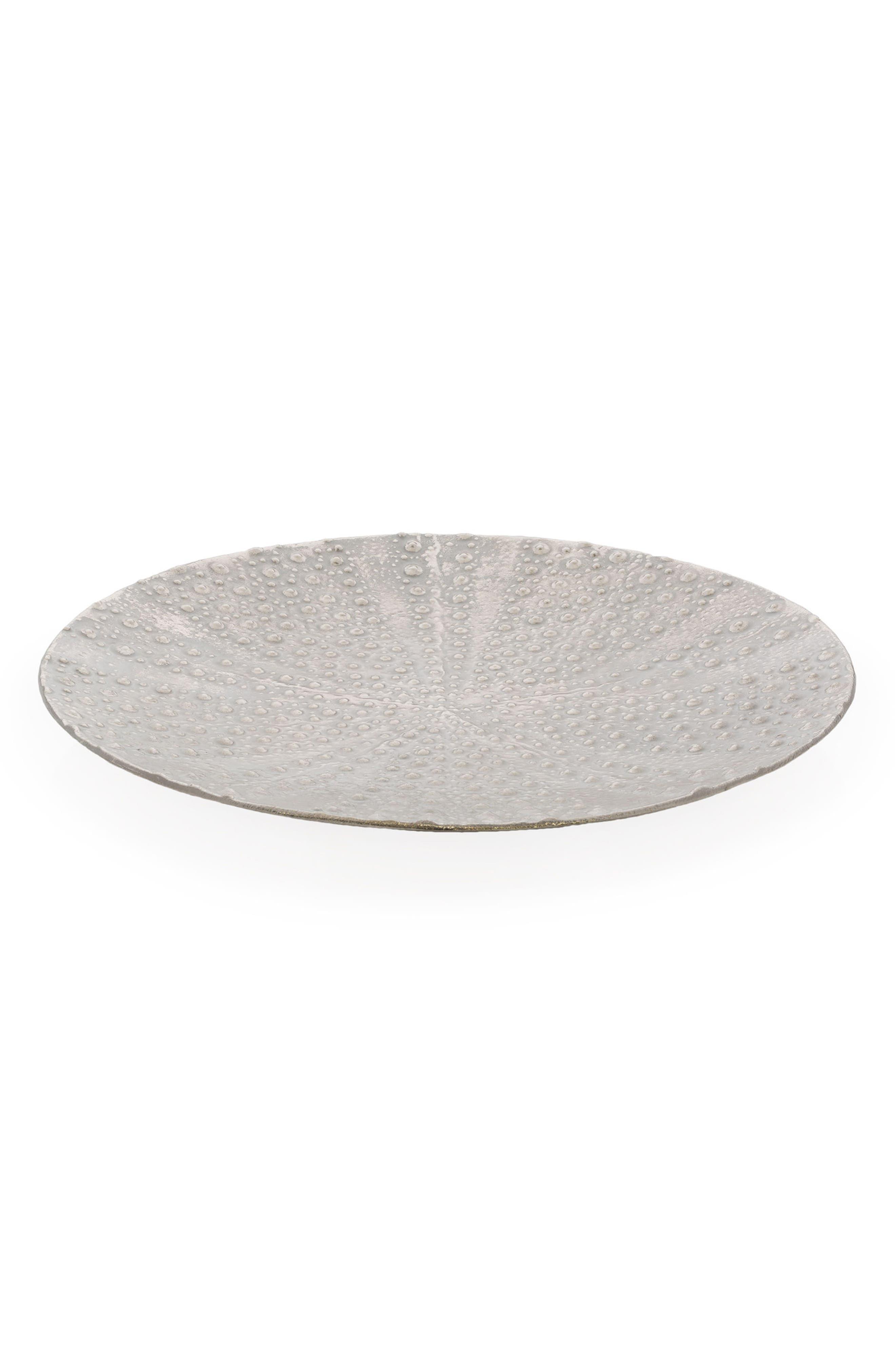 Ocean Reef Sea Urchin Platter,                             Main thumbnail 1, color,                             Silver