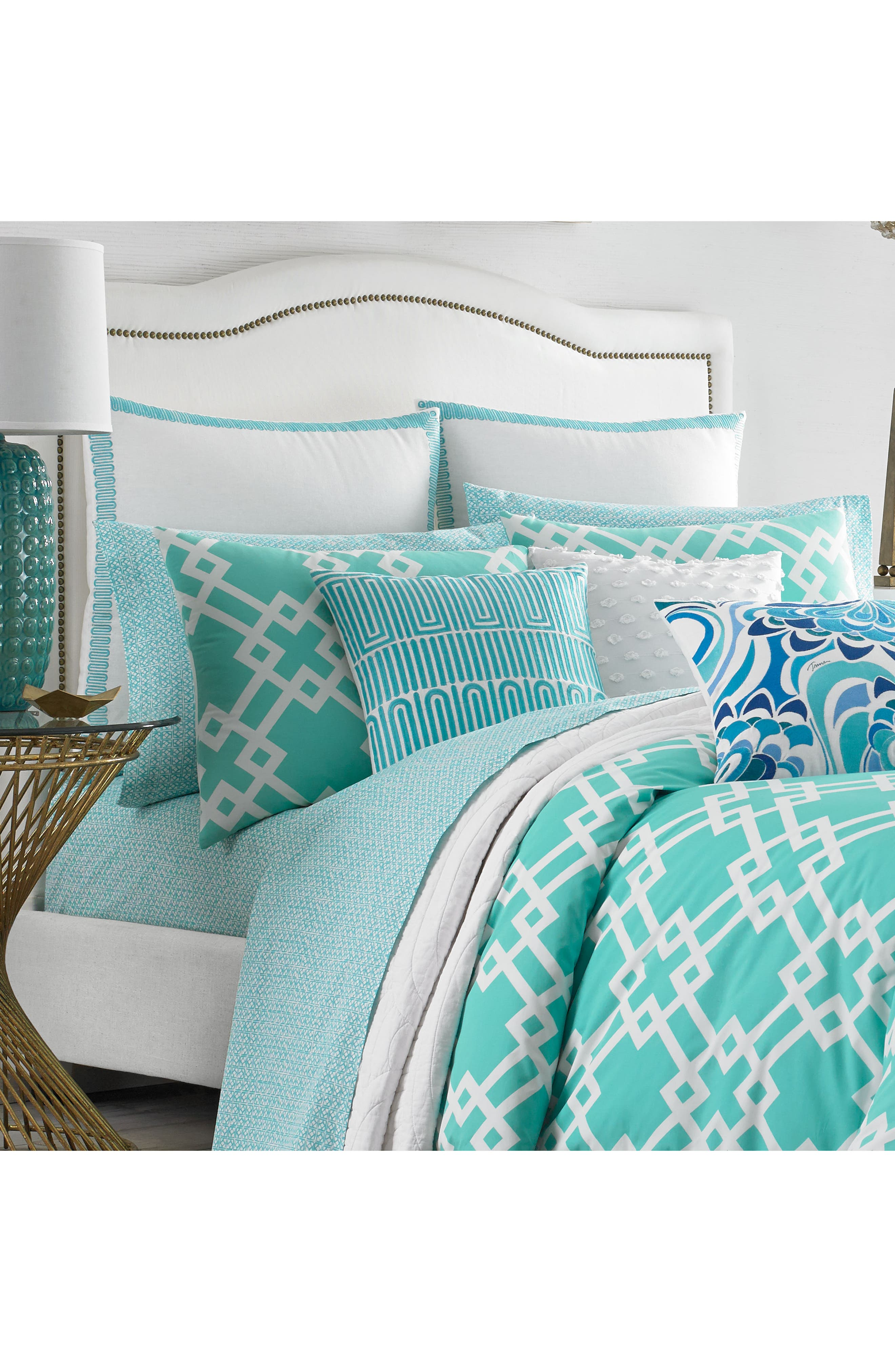 Avalon Comforter & Sham Set,                             Alternate thumbnail 2, color,                             Turquoise