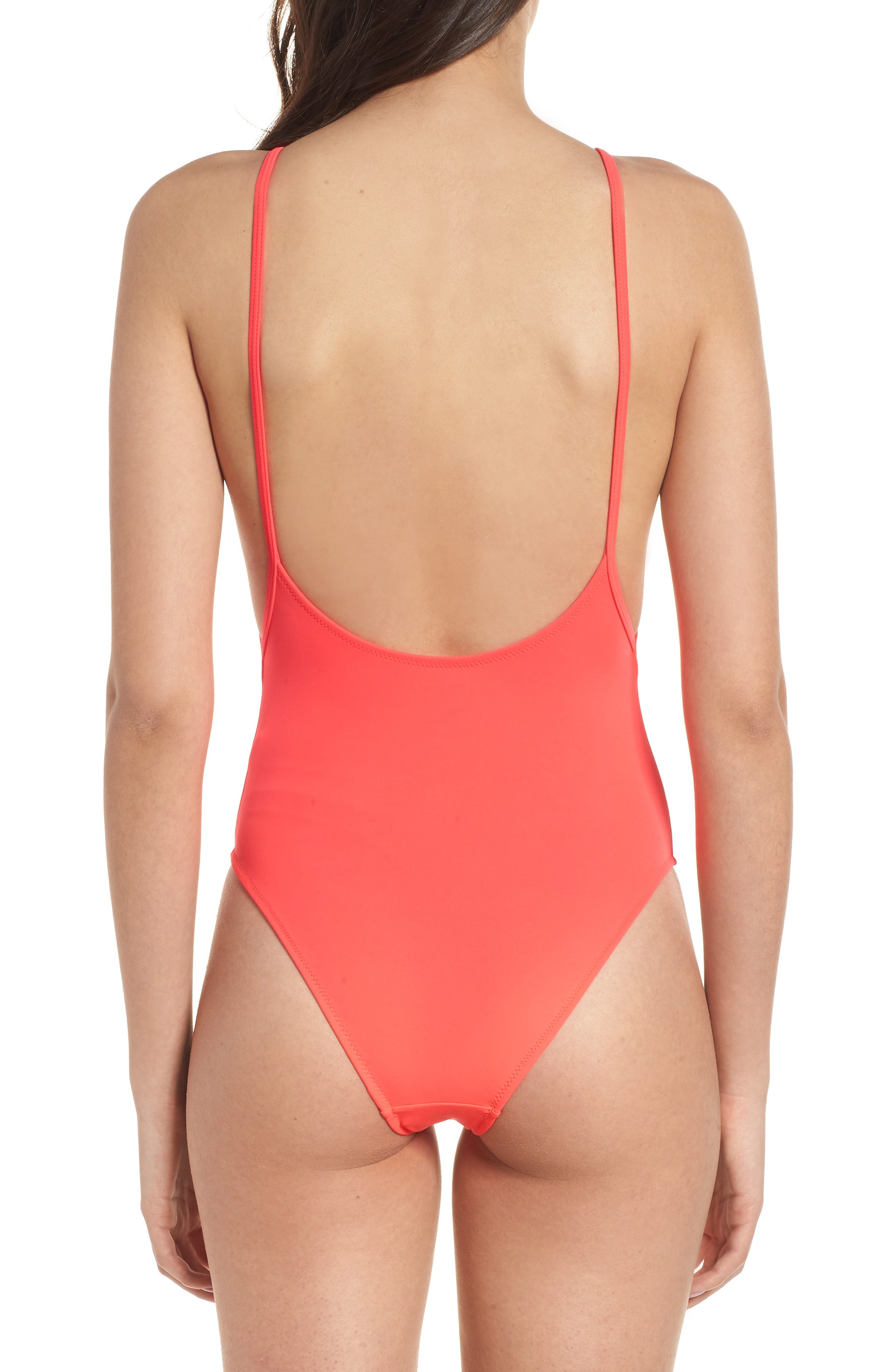 Pamela One-Piece Swimsuit,                             Alternate thumbnail 2, color,                             Red