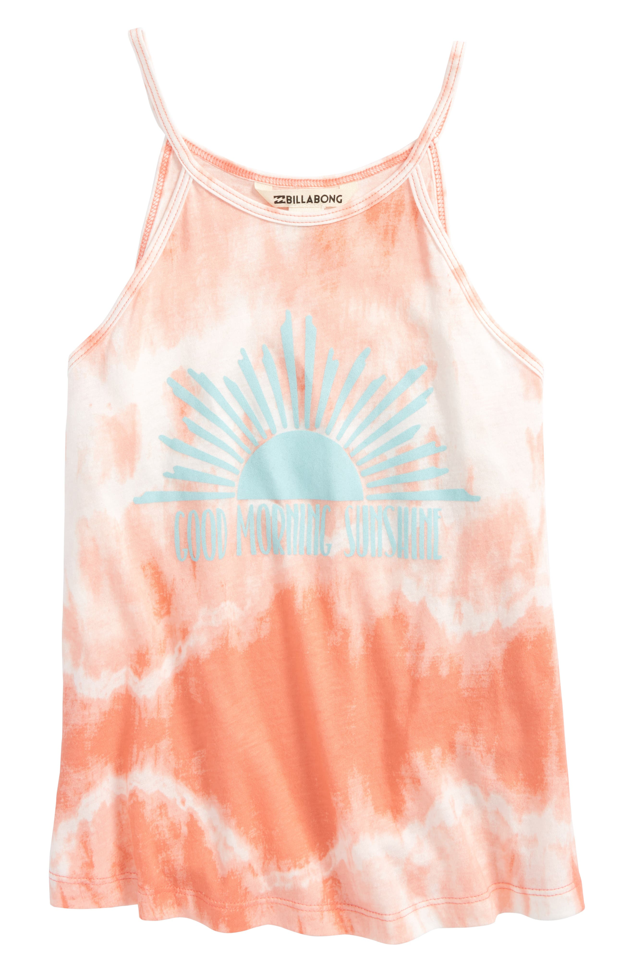 Ocean Breeze Tank,                             Main thumbnail 1, color,                             Sunkissed Coral