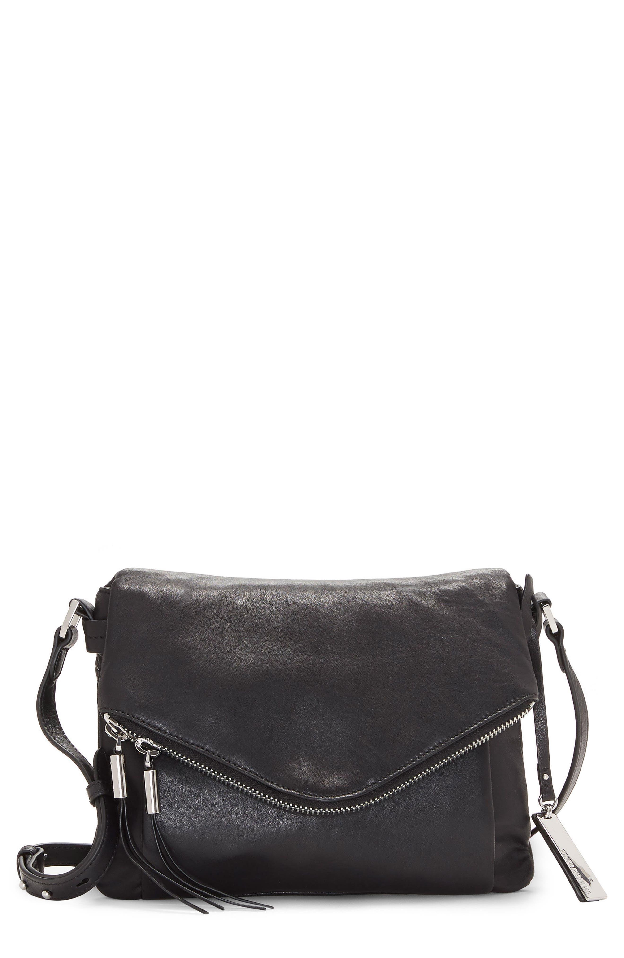 Alder Leather Crossbody Bag,                         Main,                         color, Nero