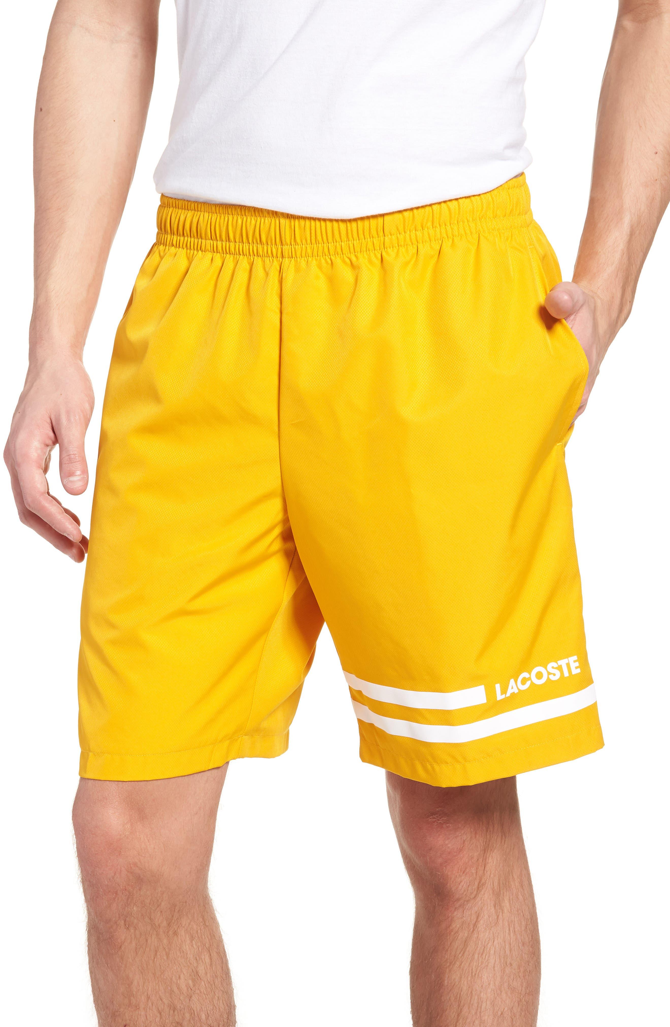 Stripe Shorts,                             Main thumbnail 1, color,                             Buttercup/ White