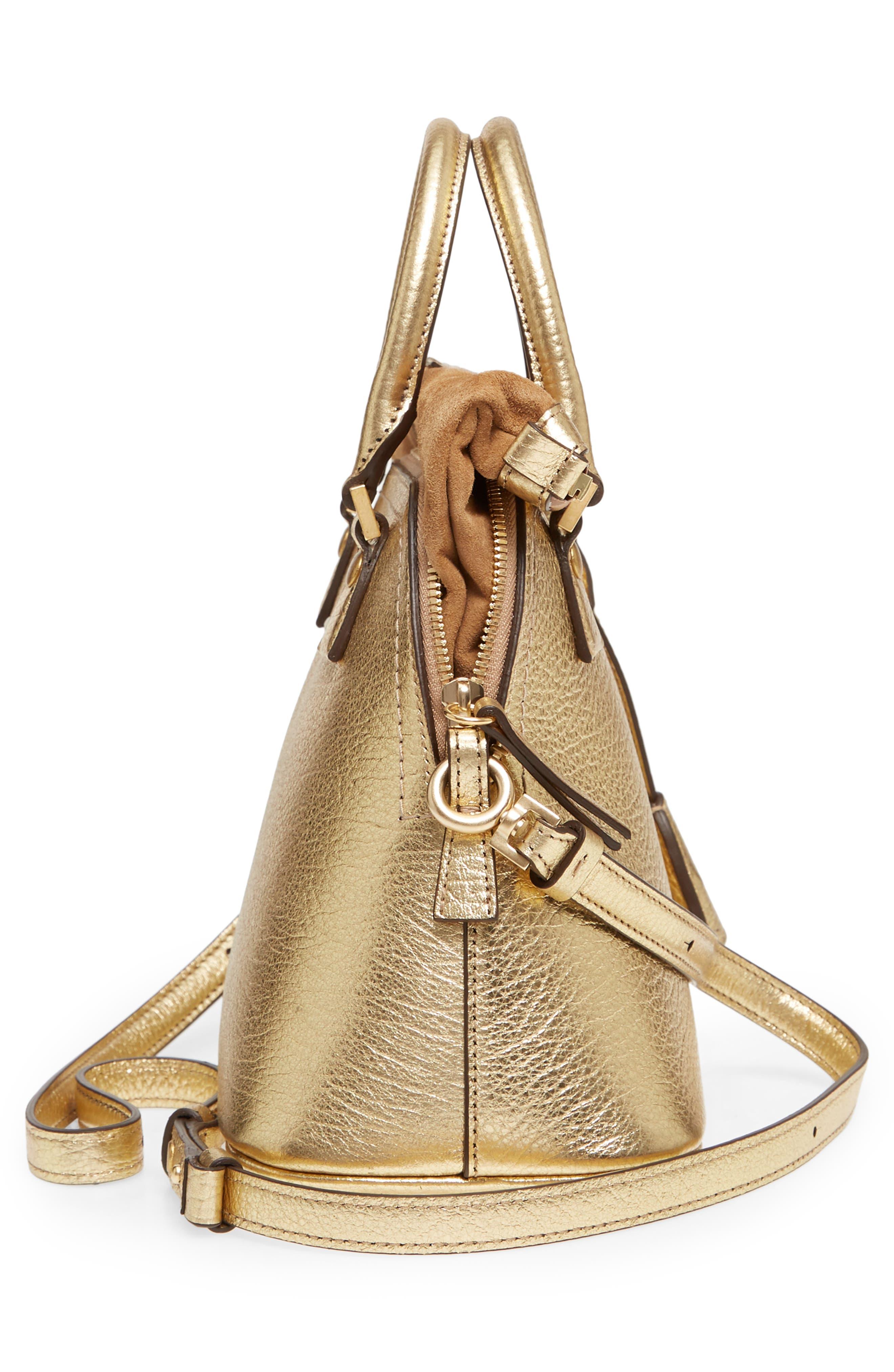Small 5AC Calfskin Leather Handbag,                             Alternate thumbnail 5, color,                             Gold