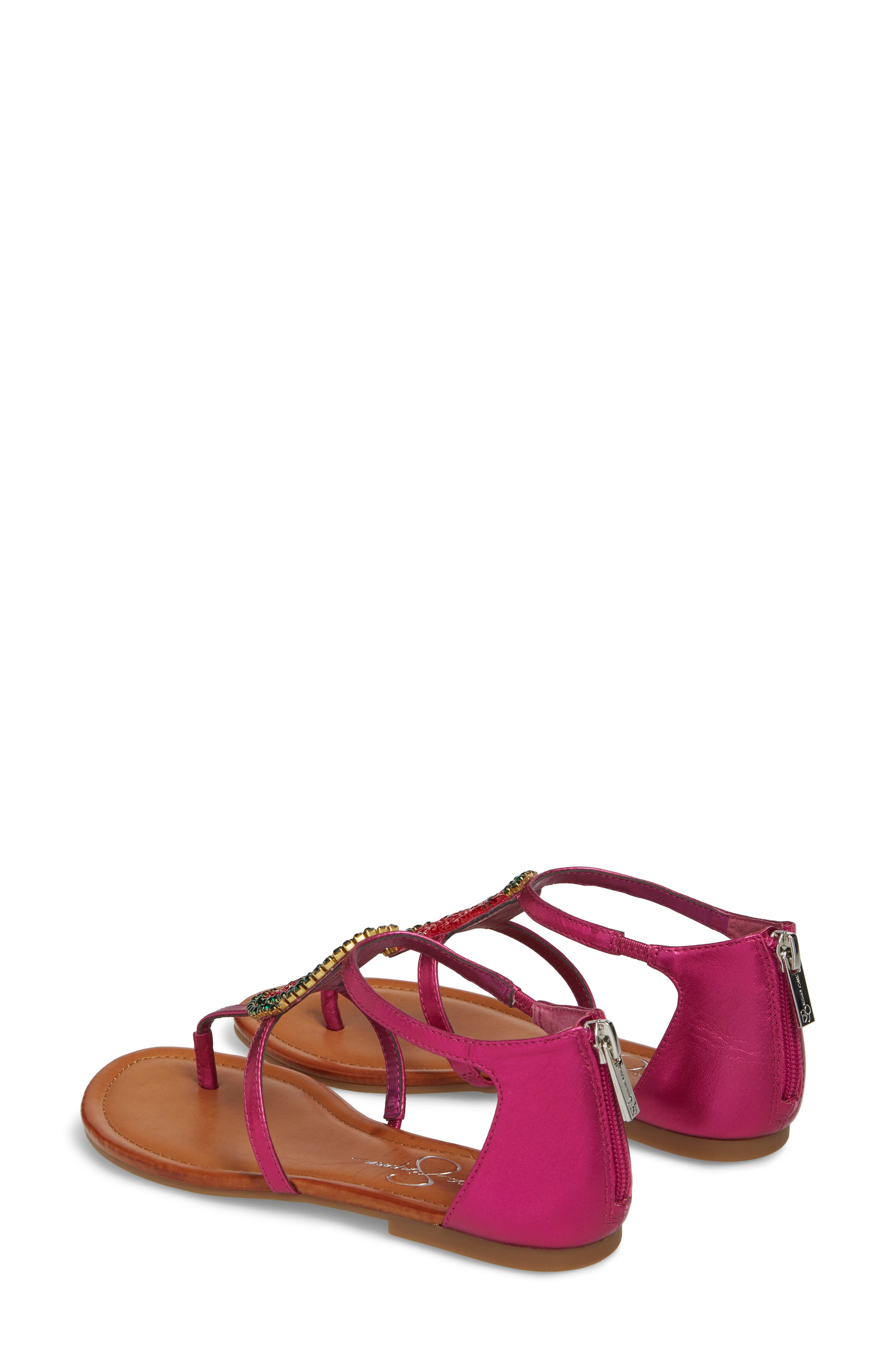 Jessica Simpson Women's Konnie Crystal Watermelon Embellished Sandal