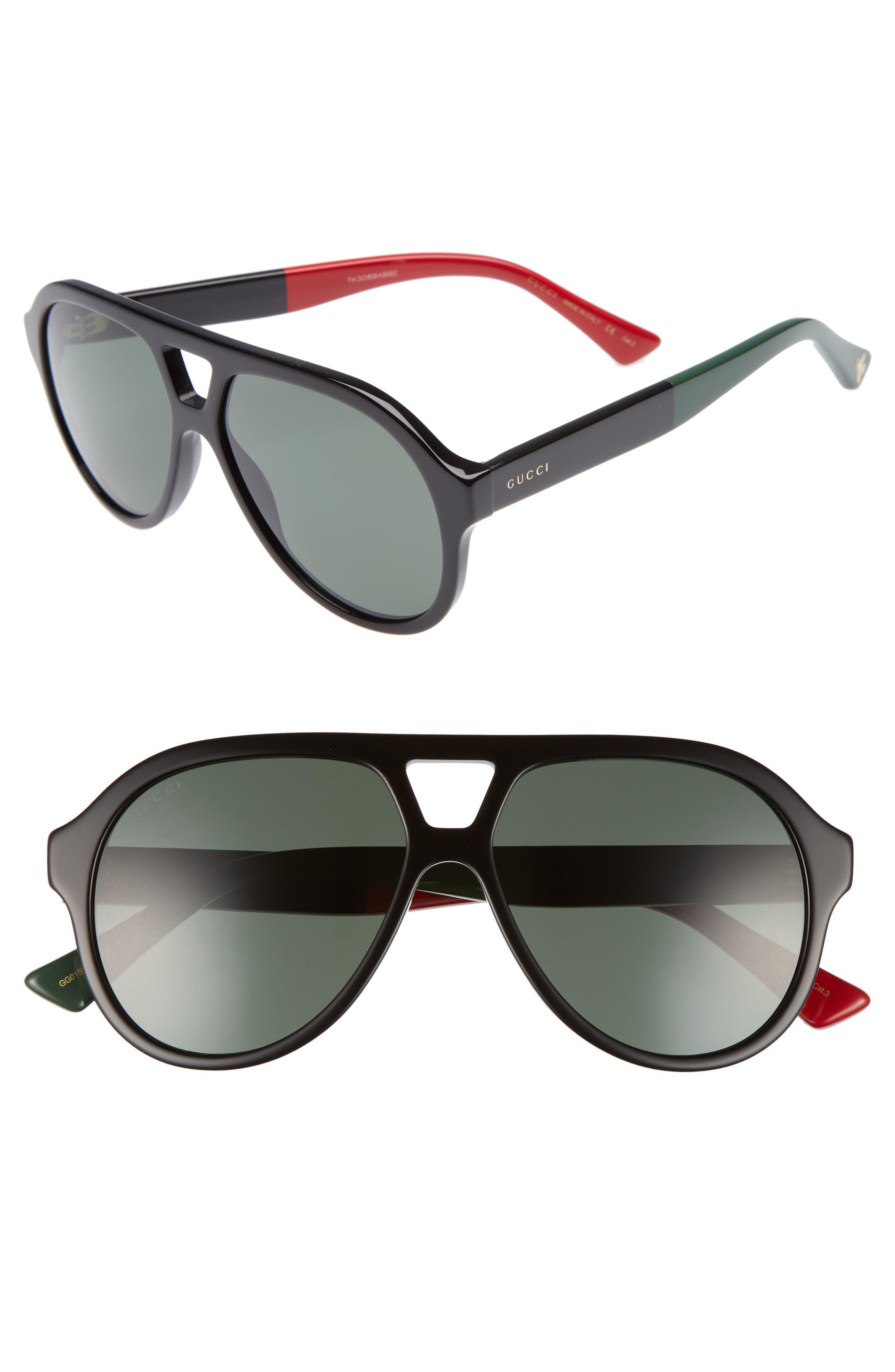 Gucci 54mm Navigator Sunglasses