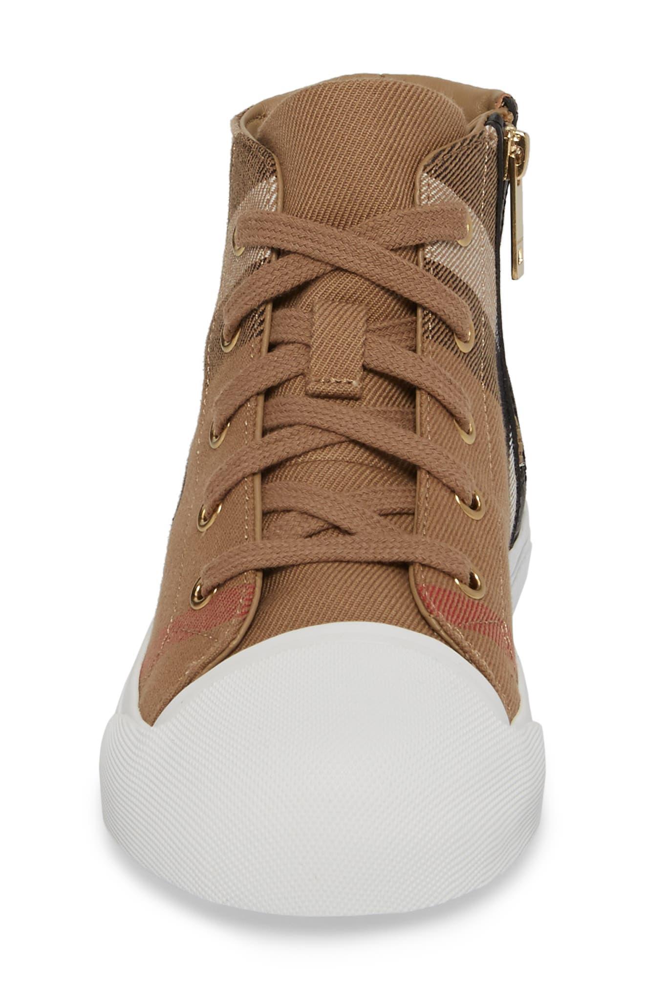 Belford High Top Sneaker,                             Alternate thumbnail 5, color,                             Classic/ Neon Green