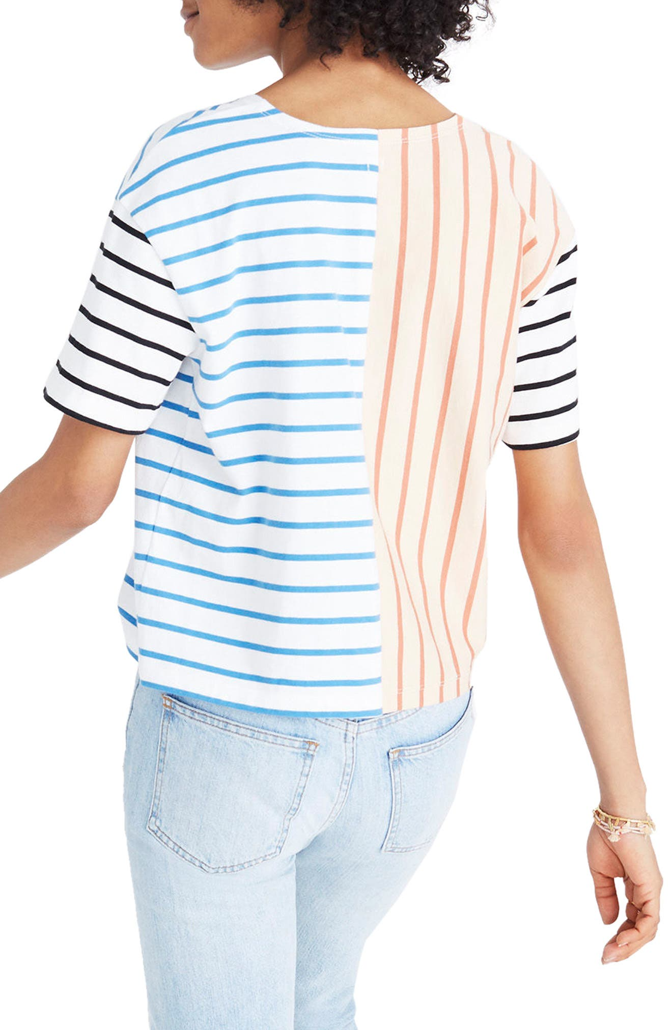 Alternate Image 2  - Madewell Mixed Stripe Easy Crop Tee