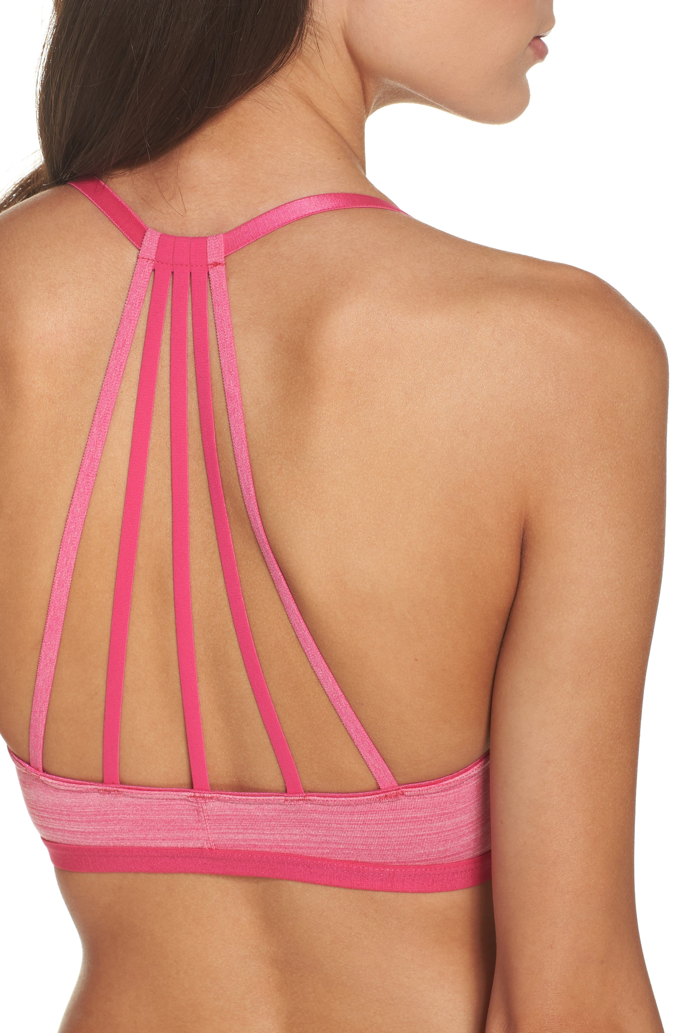 Strappy Bralette,                             Alternate thumbnail 6, color,                             Pink Peacock