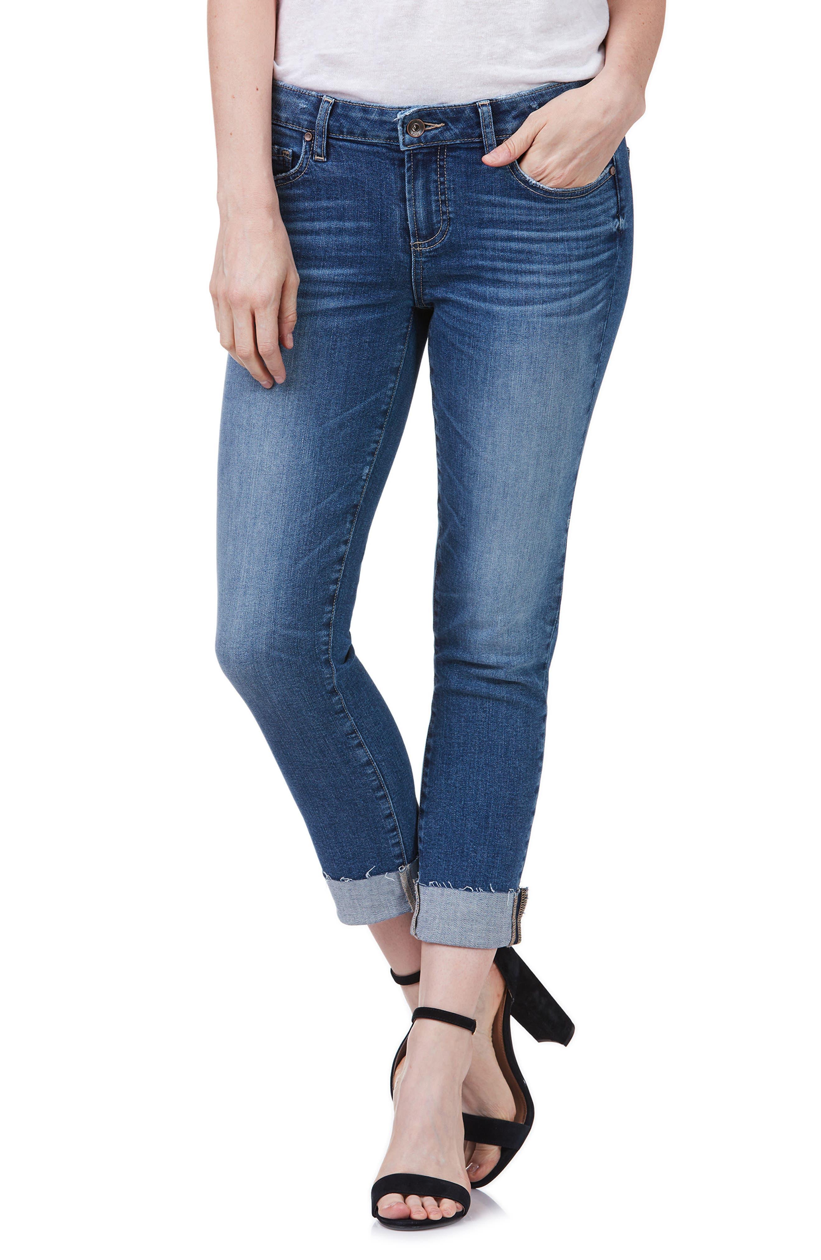 Transcend Vintage - Skyline Crop Skinny Jeans,                             Main thumbnail 1, color,                             Pico