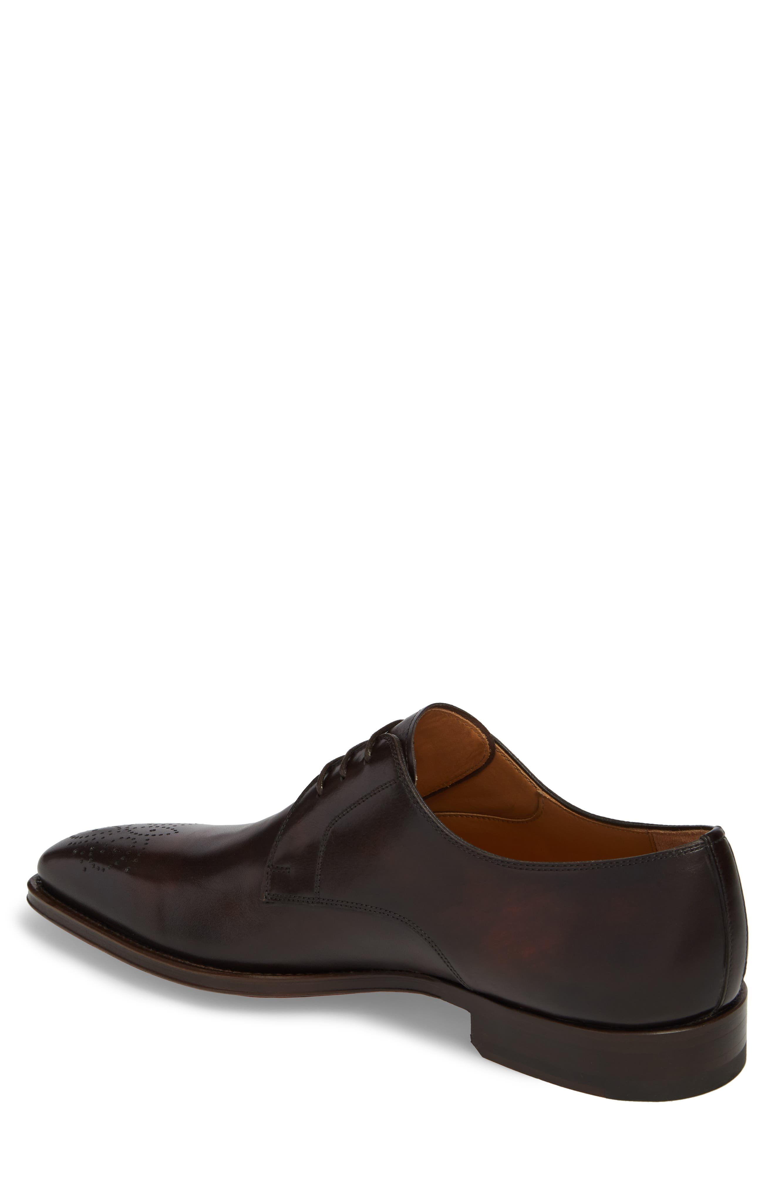 Gerardo Medallion Toe Derby,                             Alternate thumbnail 5, color,                             Brown Leather